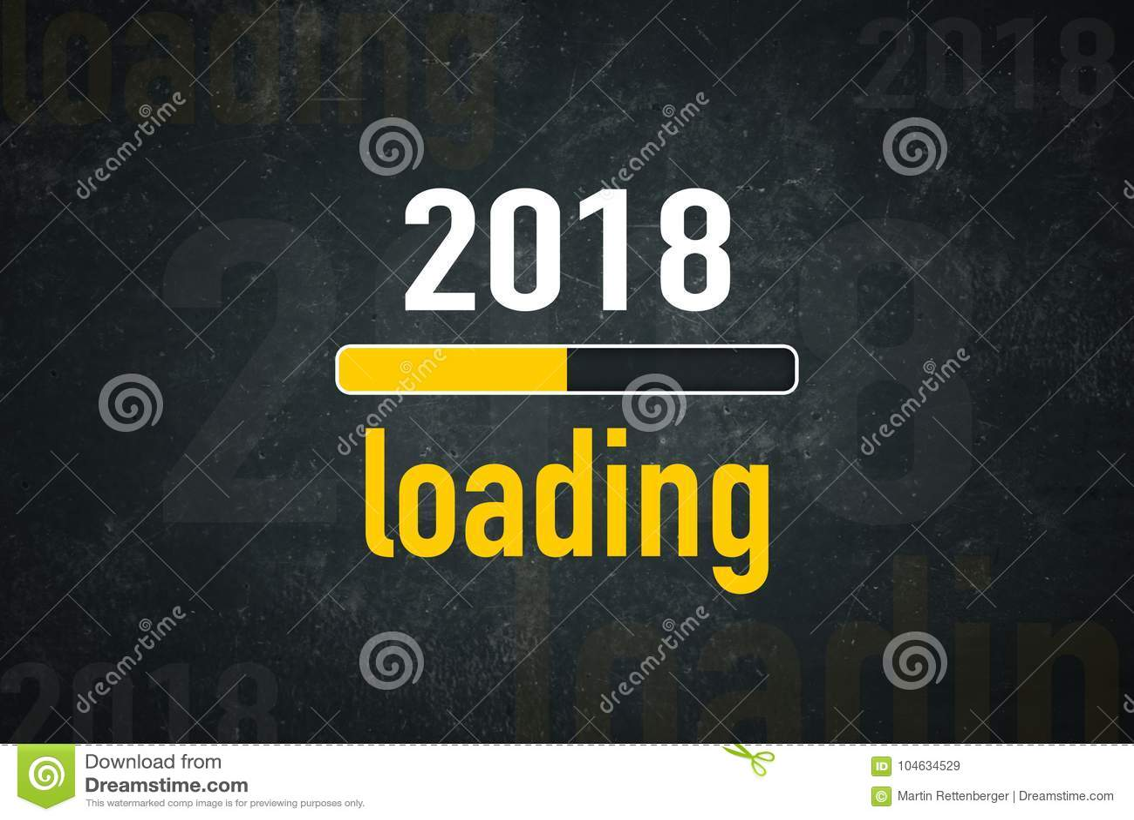 Download Het scherm 2018 lading stock illustratie. Illustratie bestaande uit donker - 104634529