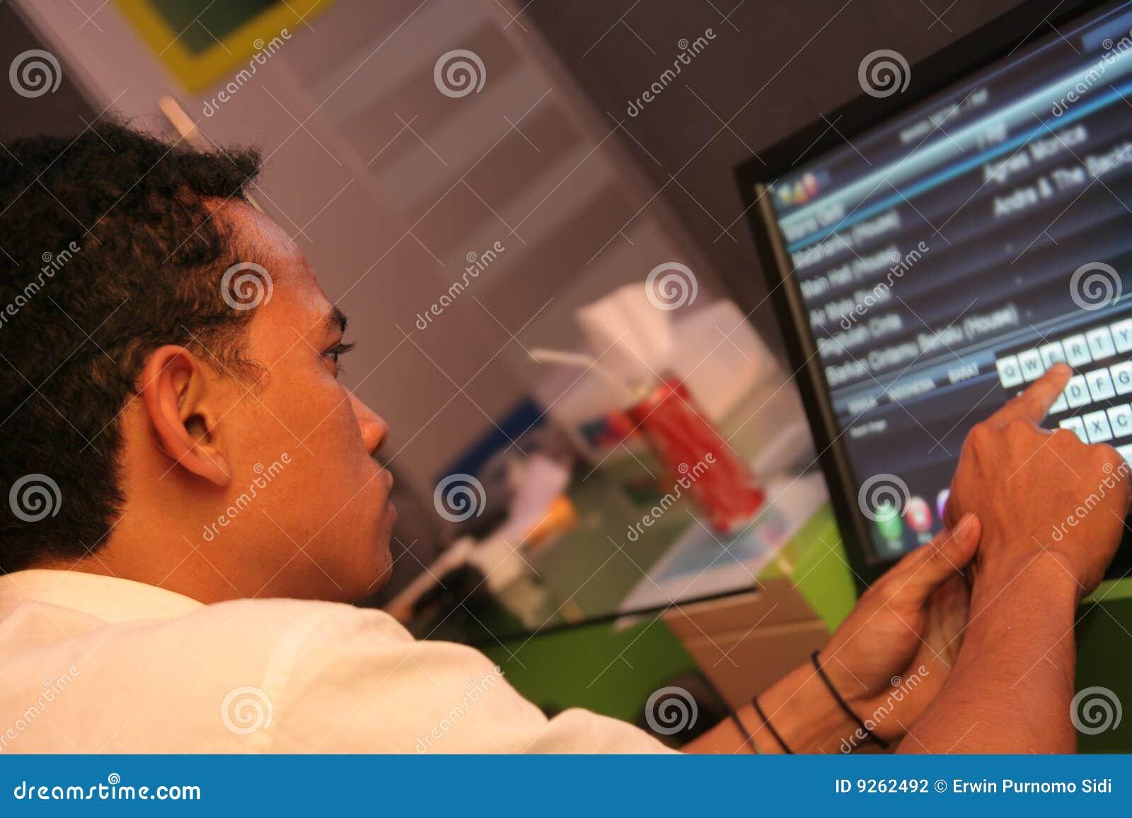 Het scherm van de aanraking