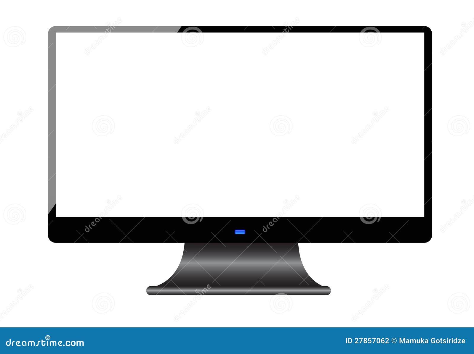Het scherm van de computer