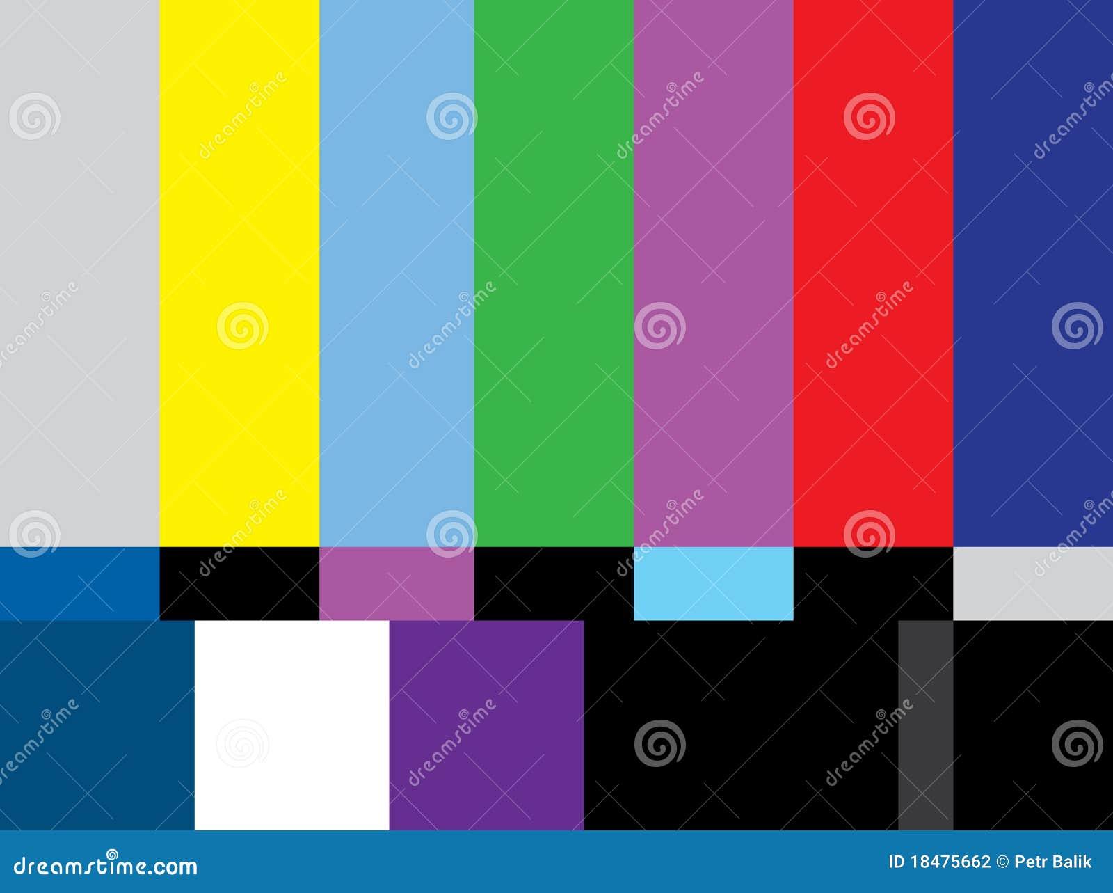 Het scherm van de de testkleur van tv stock fotografie afbeelding 18475662 for Van de tv