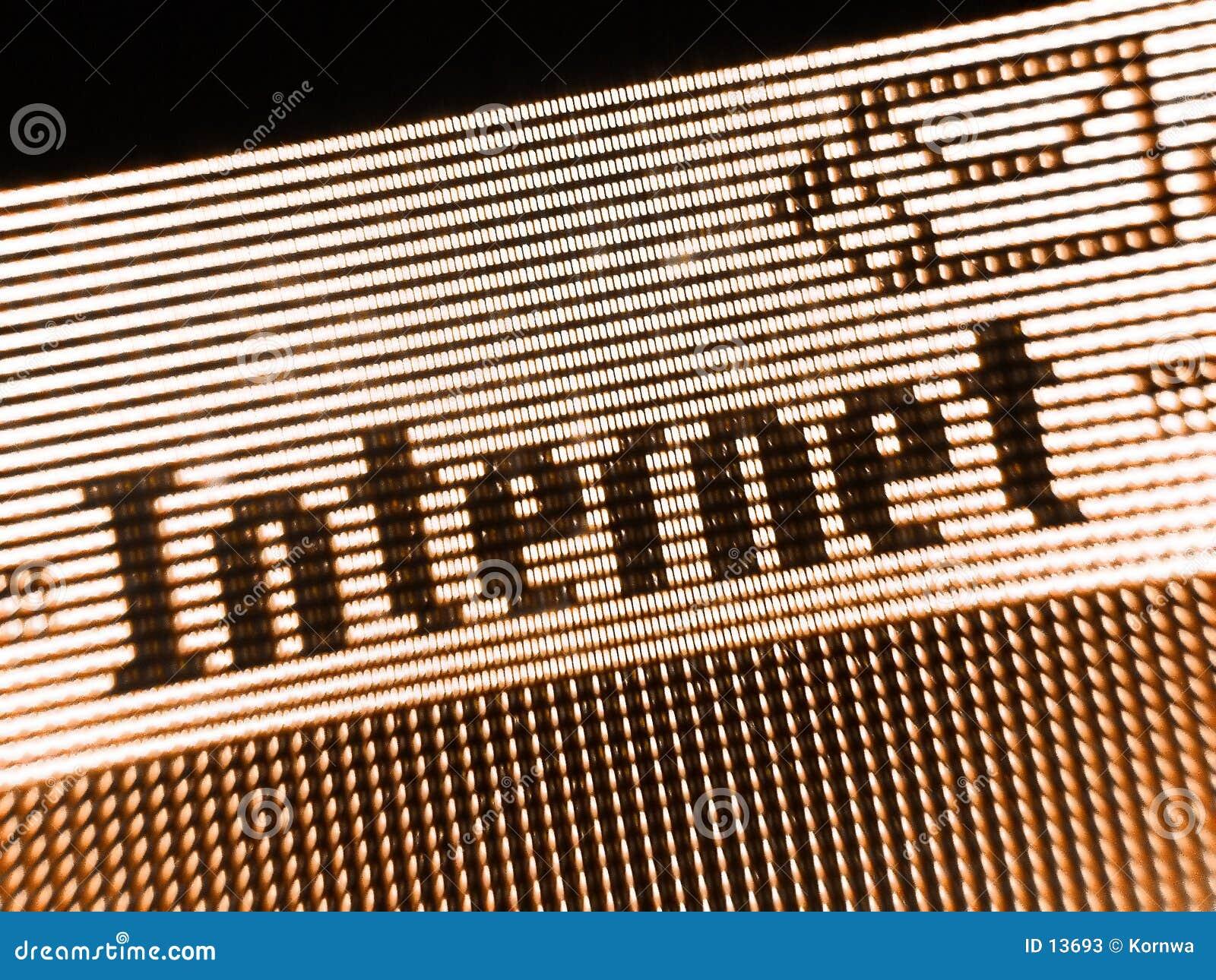 Het scherm van Internet