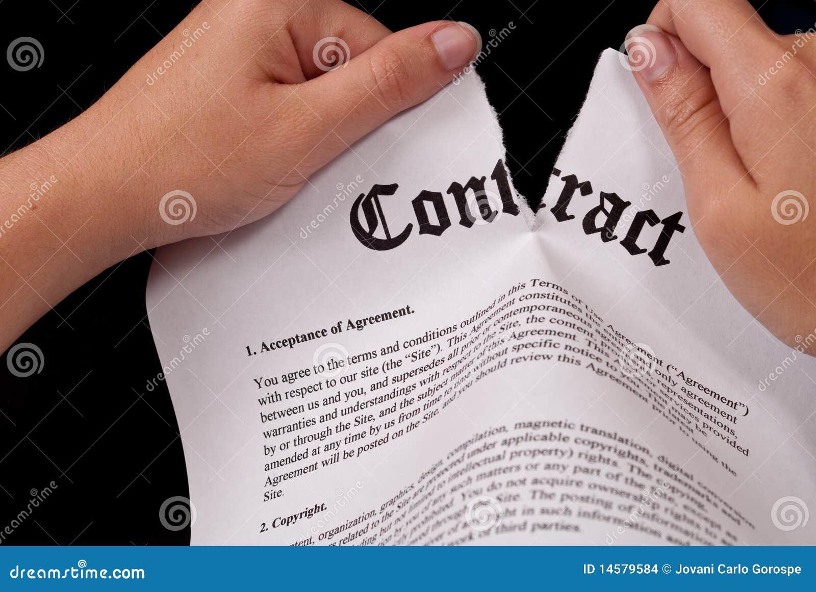 Het scheuren van het Contract