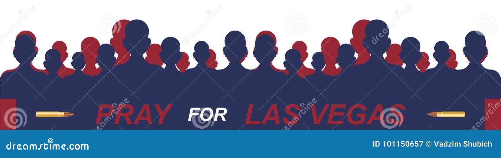 Het Schieten van Las Vegas Concept terrorisme en het geheugen van de doden