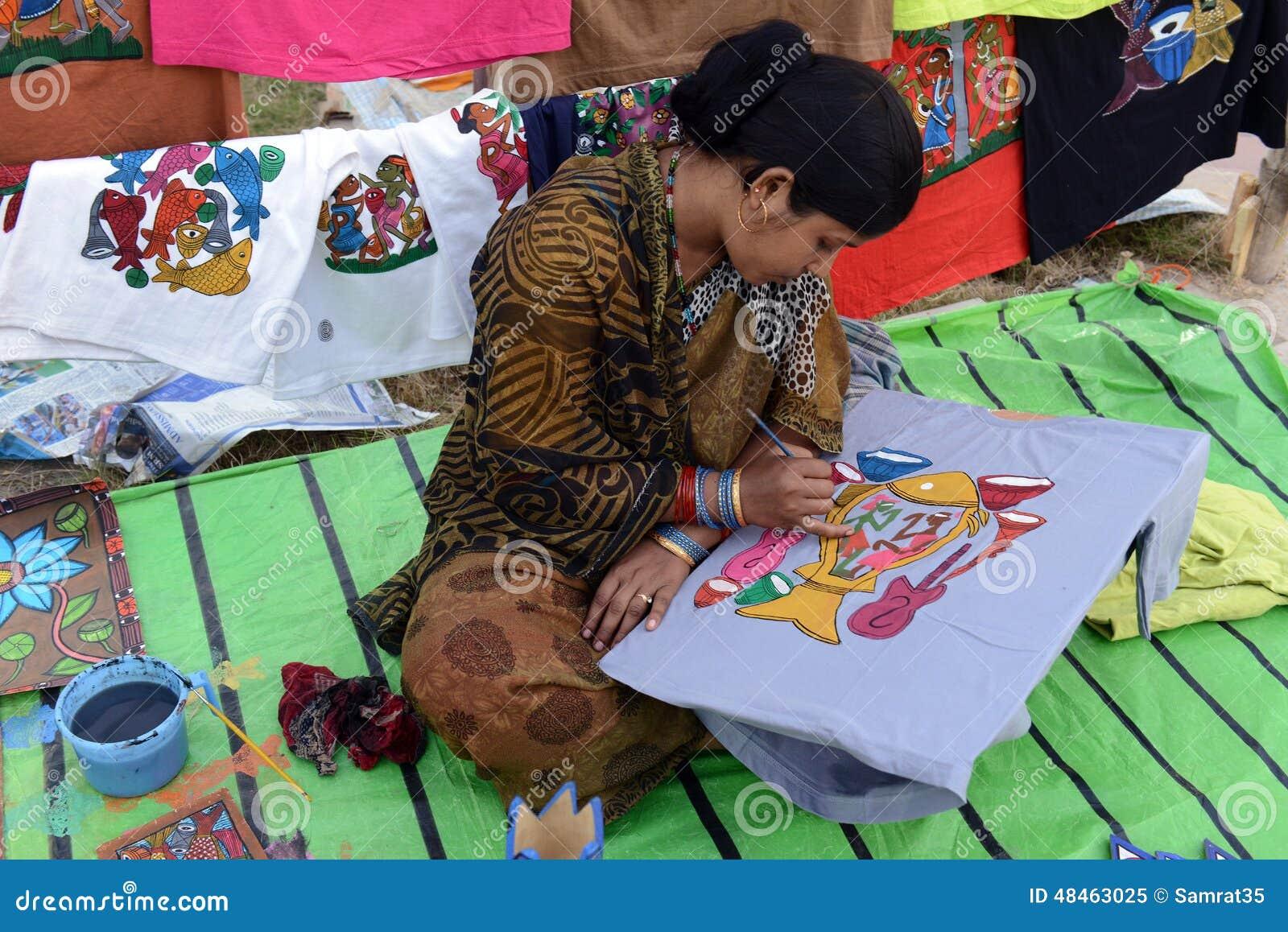 Het schilderen op T-shirt