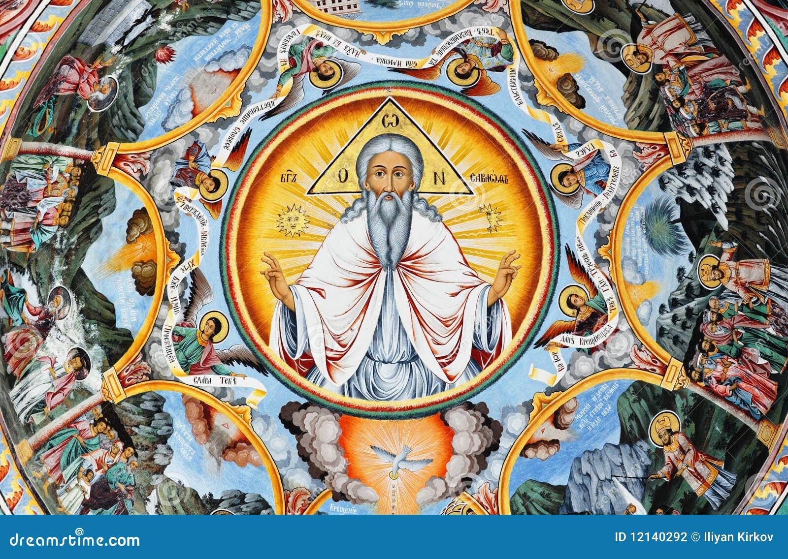Het schilderen van de muurschildering van heilige ivan rilski stock foto afbeelding 12140292 - Het upgraden van m ...