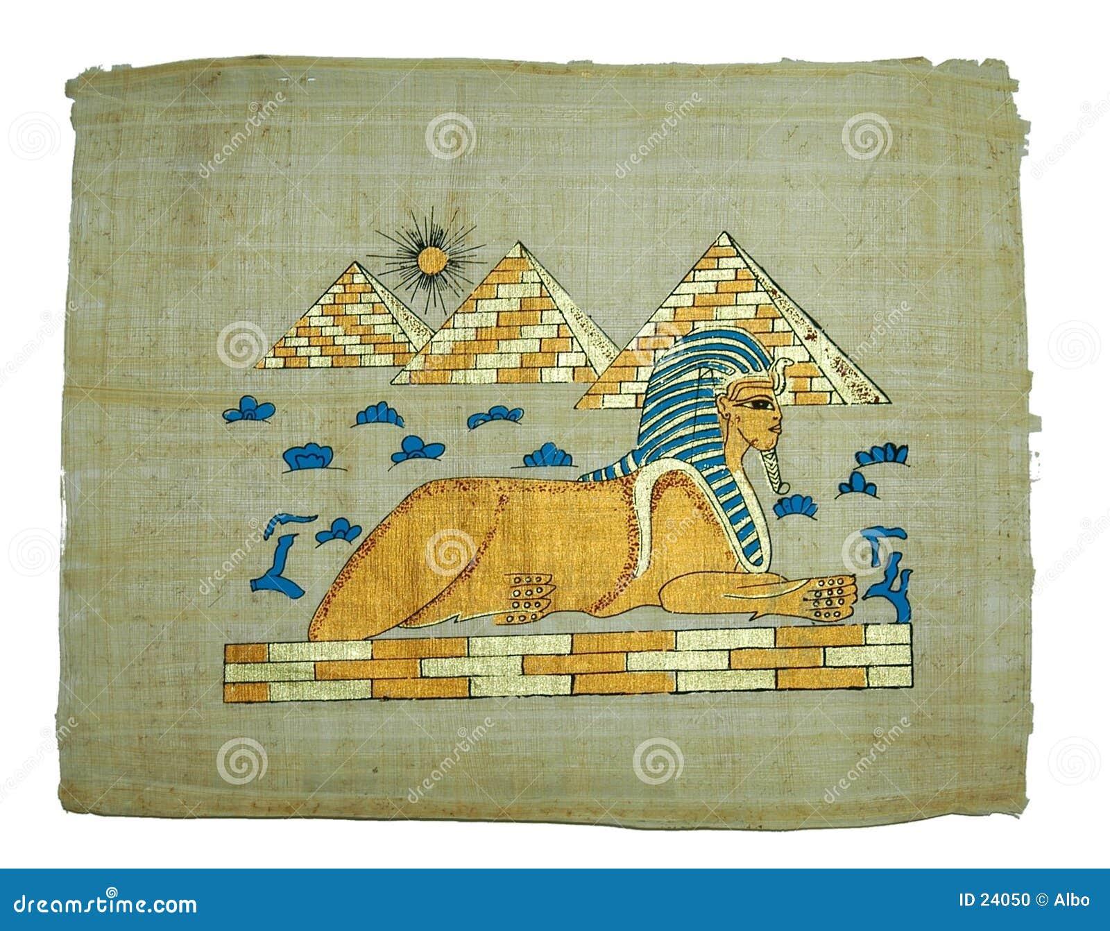 Het schilderen van de papyrus