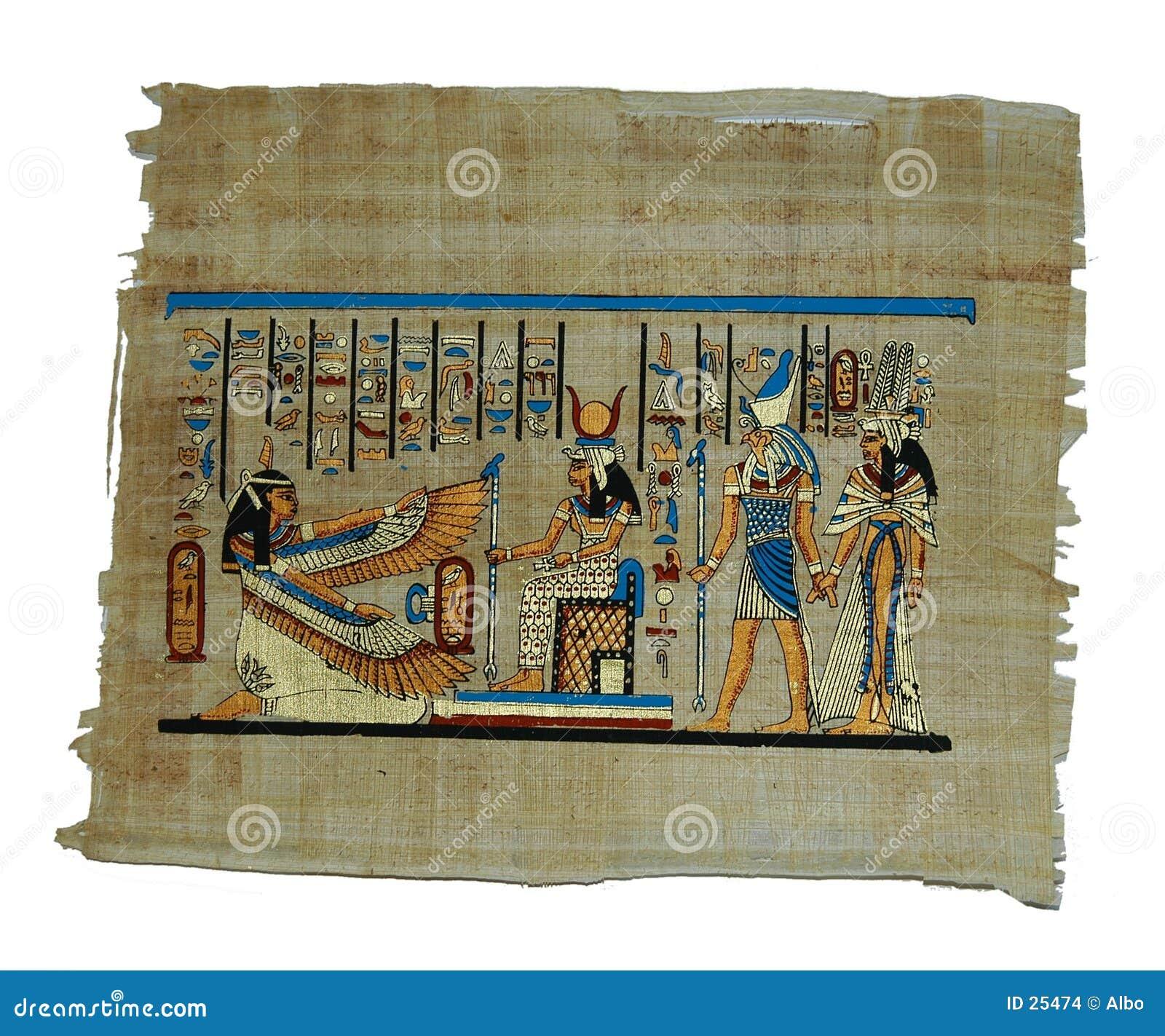 Download Het Schilderen Van De Papyrus Stock Foto - Afbeelding bestaande uit beige, materialen: 25474
