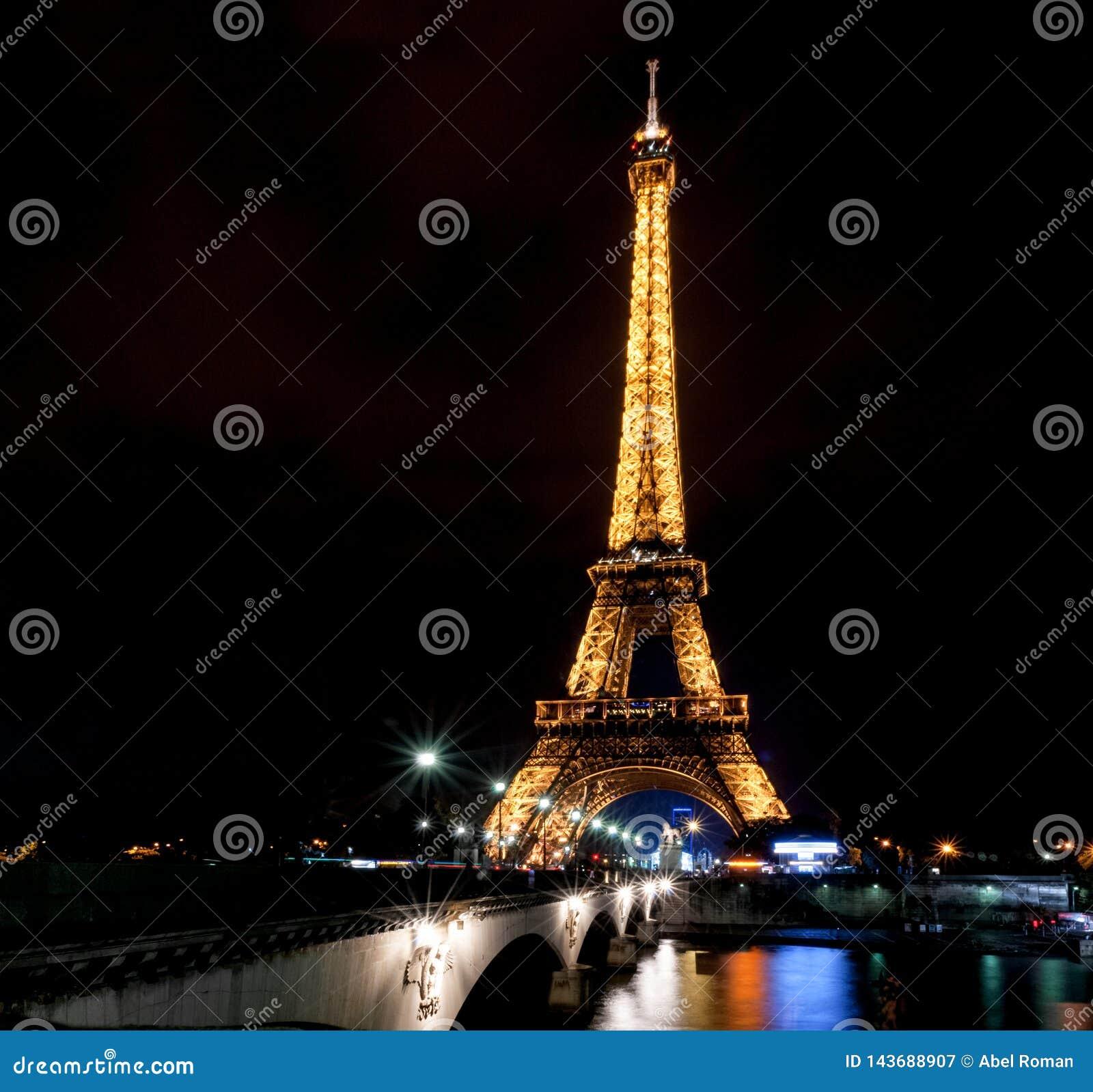 Het schot van de de torennacht van Eiffel