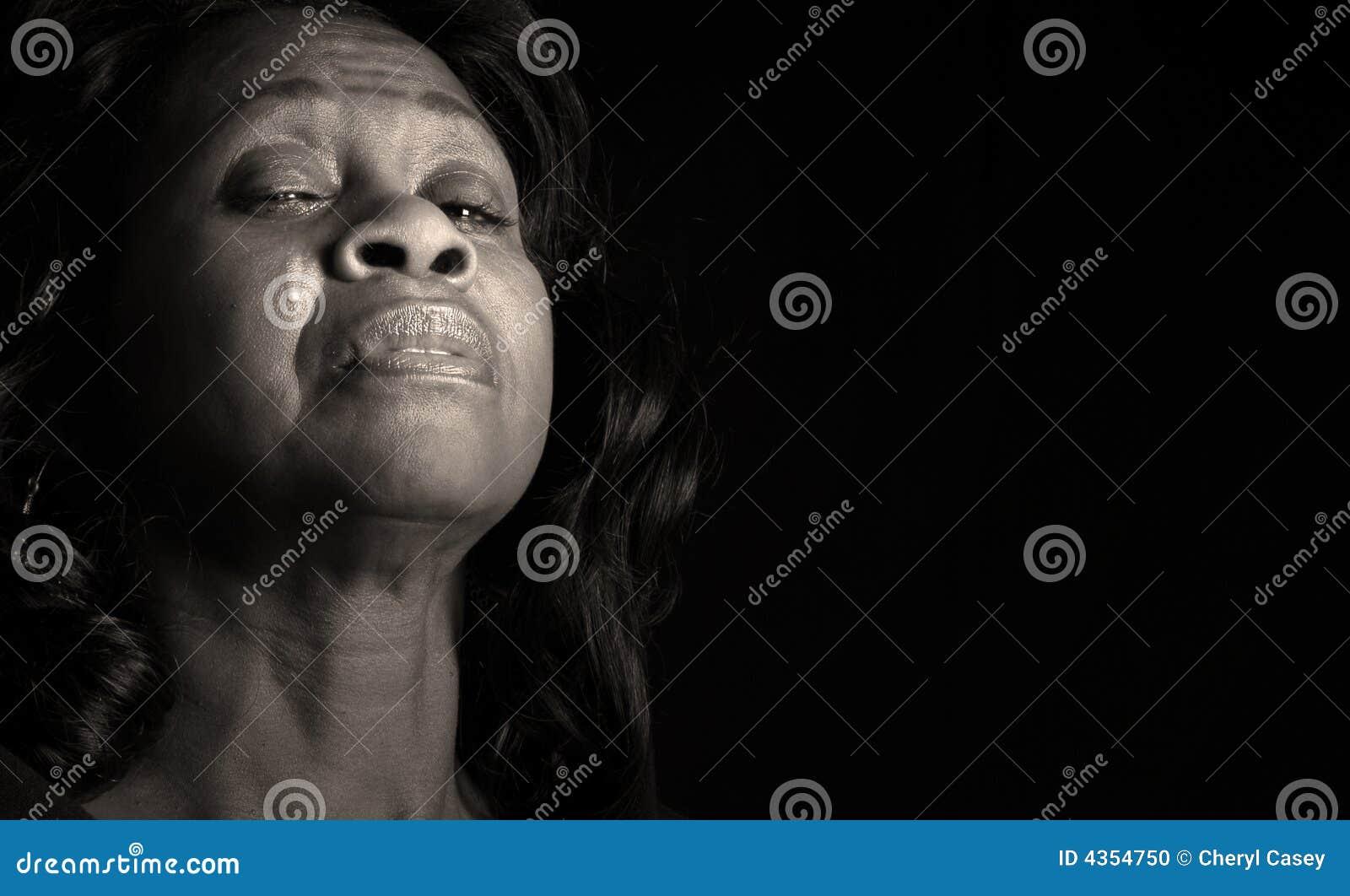 Het schreeuwen van de vrouw