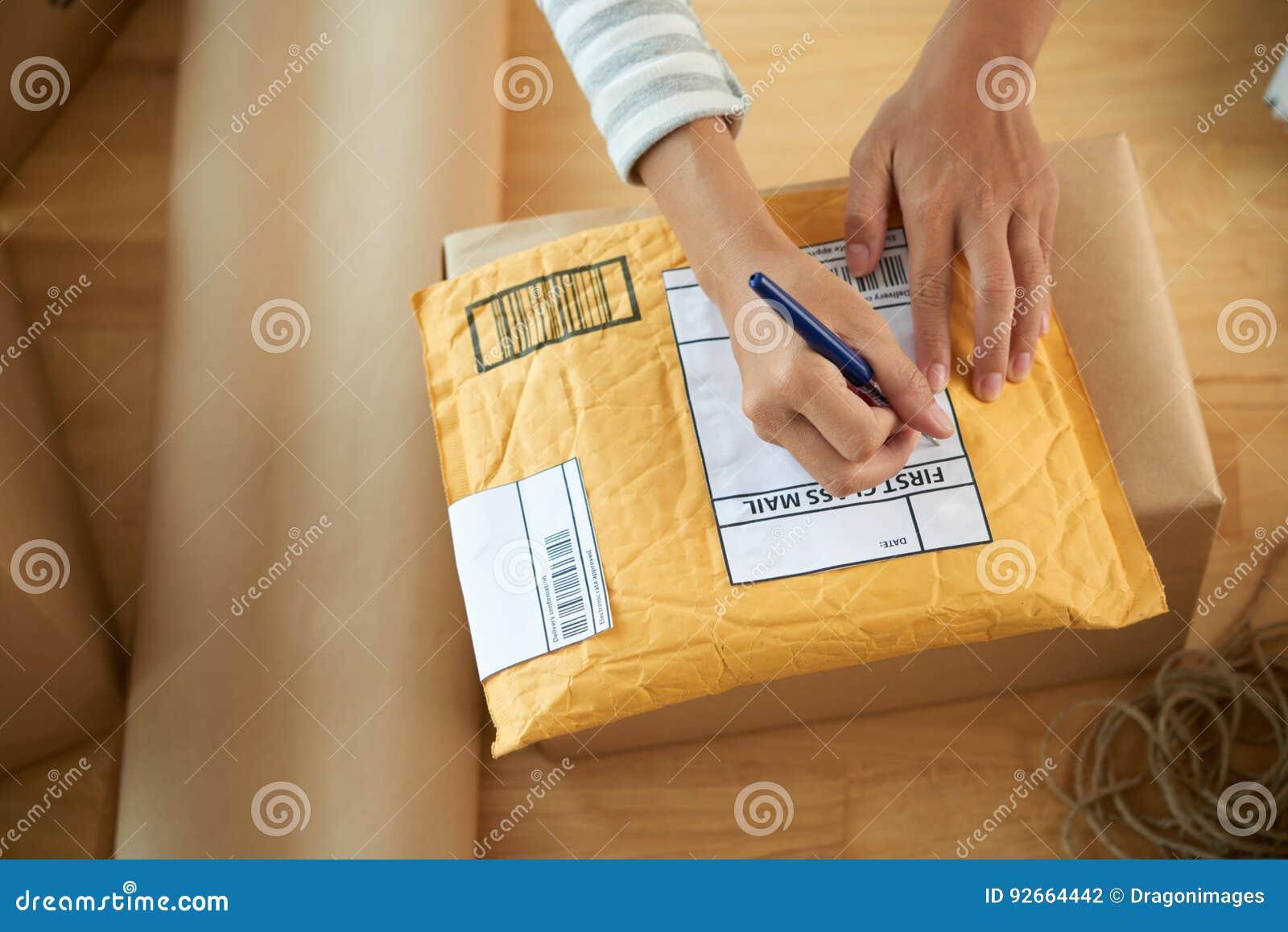 Het schrijven adres