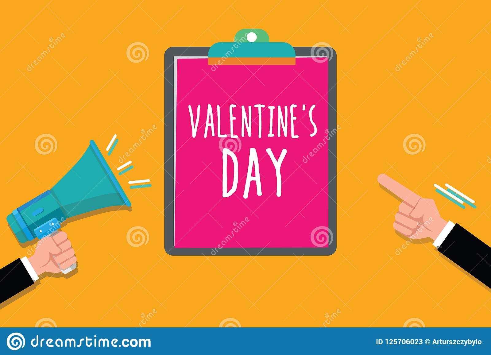 Het schrijven de nota die Valentine s tonen is Dag Bedrijfsfoto demonstratietijd wanneer de mensen gevoel van liefde en affectie