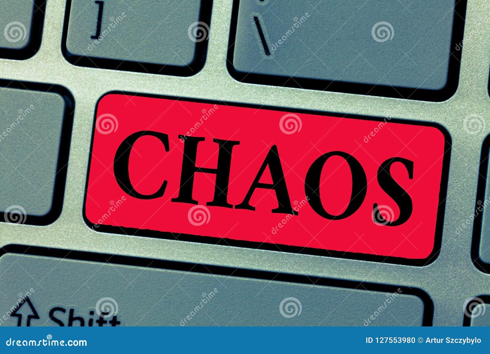Het schrijven nota die Chaos tonen Bedrijfsfoto die Volledige wanorde en grote verwarring Wijdverspreide vernietiging demonstrere