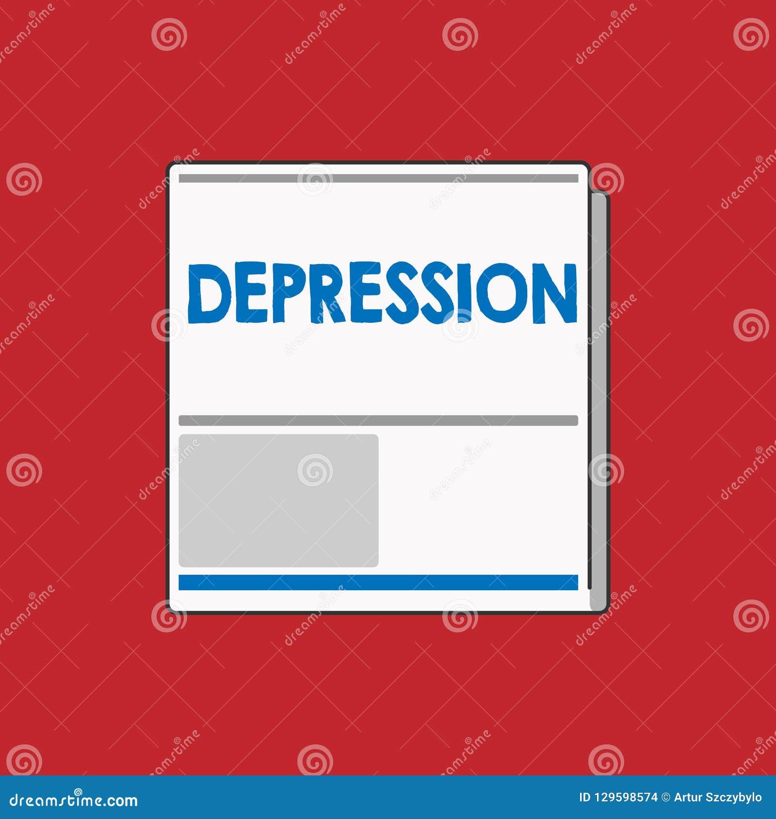Het schrijven nota die Depressie tonen Bedrijfsfoto demonstratiegevoel van strenge wanhoop en dejectiestemmingswanorde