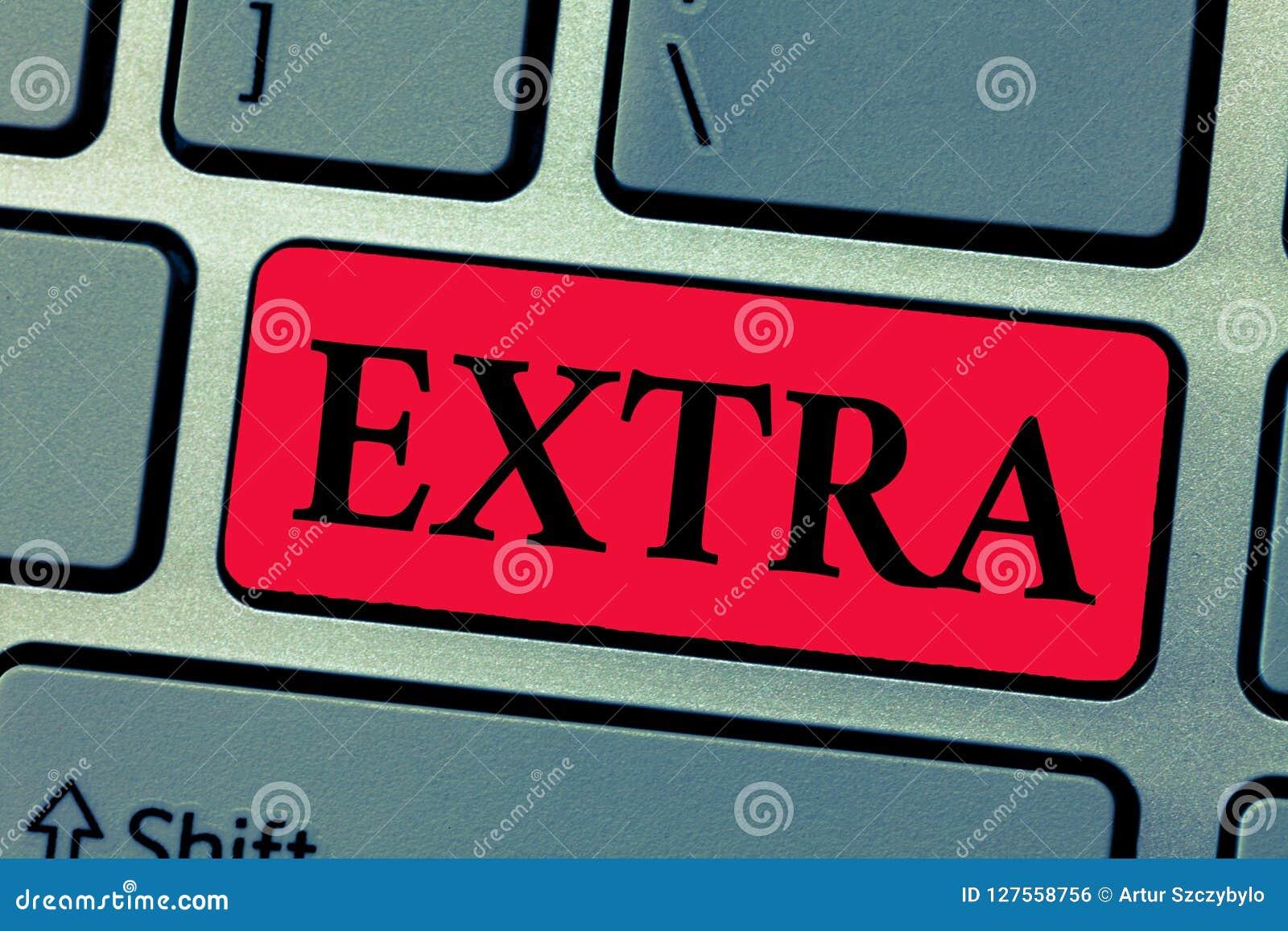 Het schrijven nota die extra tonen De bedrijfsfoto die Toegevoegd aan bestaand of gebruikelijk normaal bedragaantal daarnaast gee
