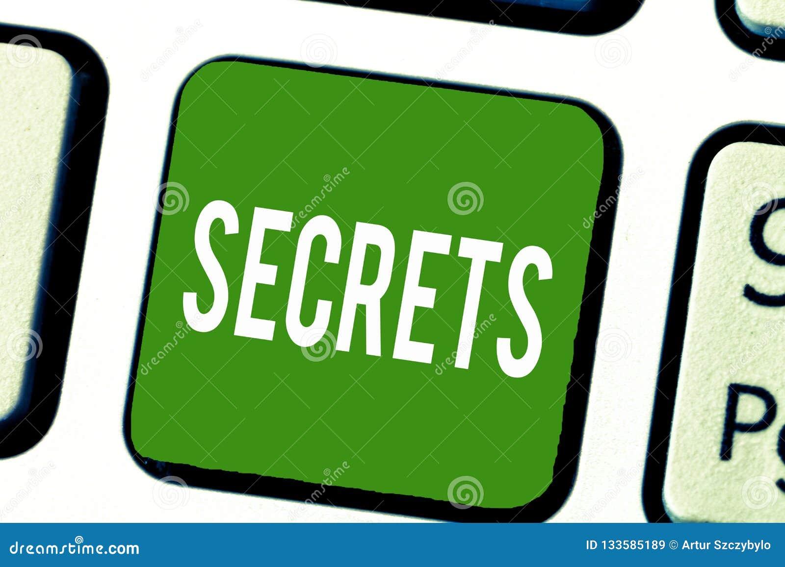 Het schrijven nota die Geheimen tonen Bedrijfsfoto demonstratie Gehouden door anderen Vertrouwelijke Geclassificeerd Privé onbeke