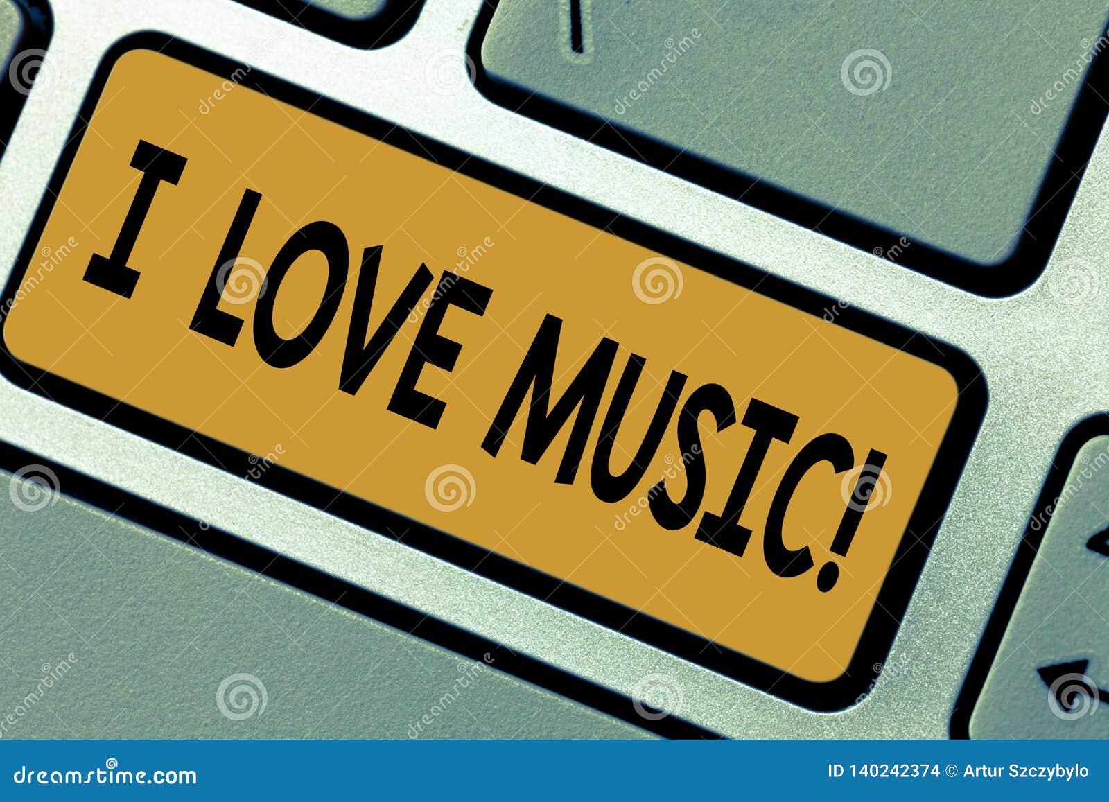 Het schrijven nota die I-Liefdemuziek tonen Bedrijfsfoto die Hebbend affectie voor de goede musici van geluiden lyrische zangers
