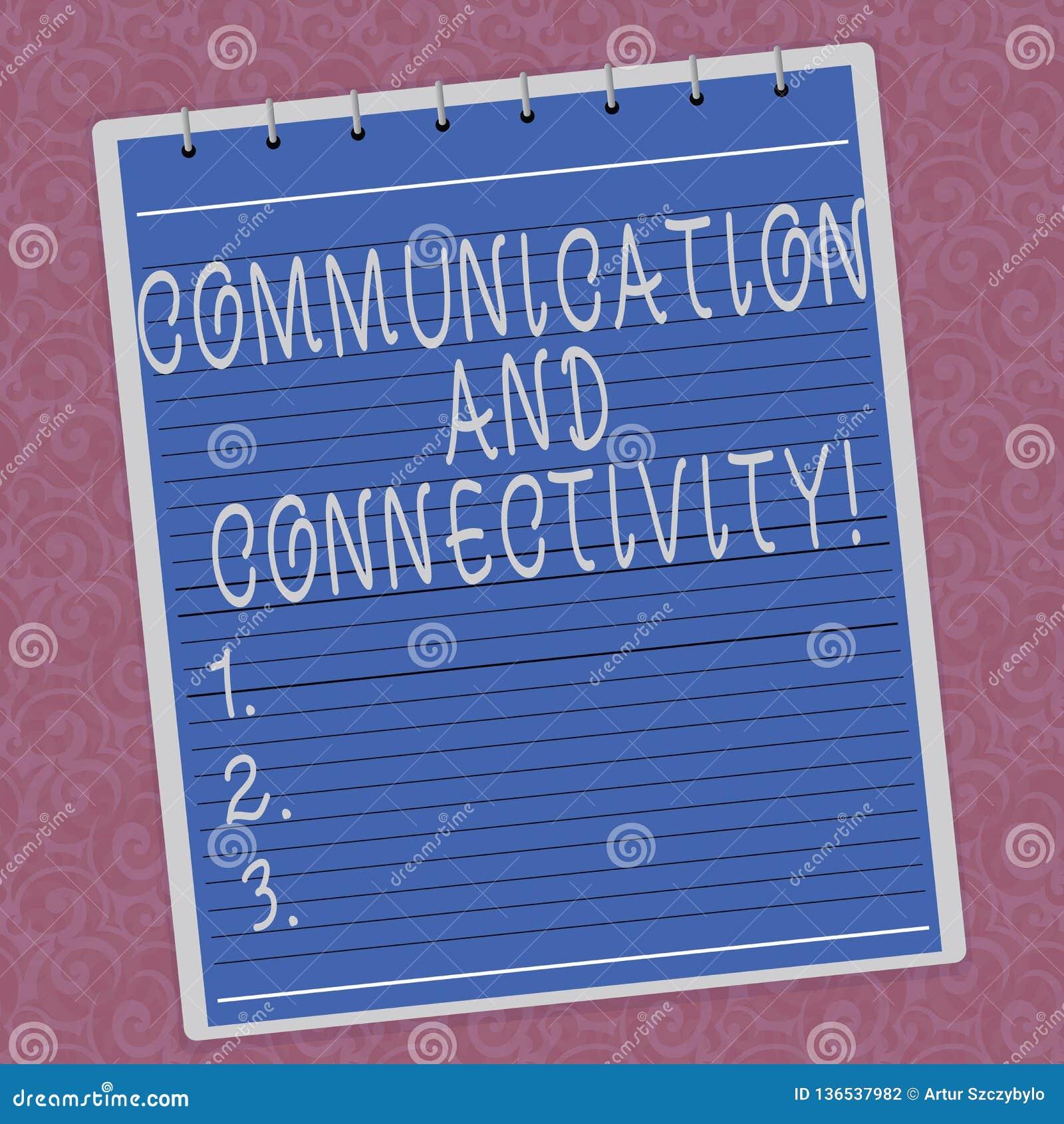 Het schrijven nota die Mededeling en Connectiviteit tonen Bedrijfsfoto die sociale verbindingen demonstreren door Gevoerde netwer
