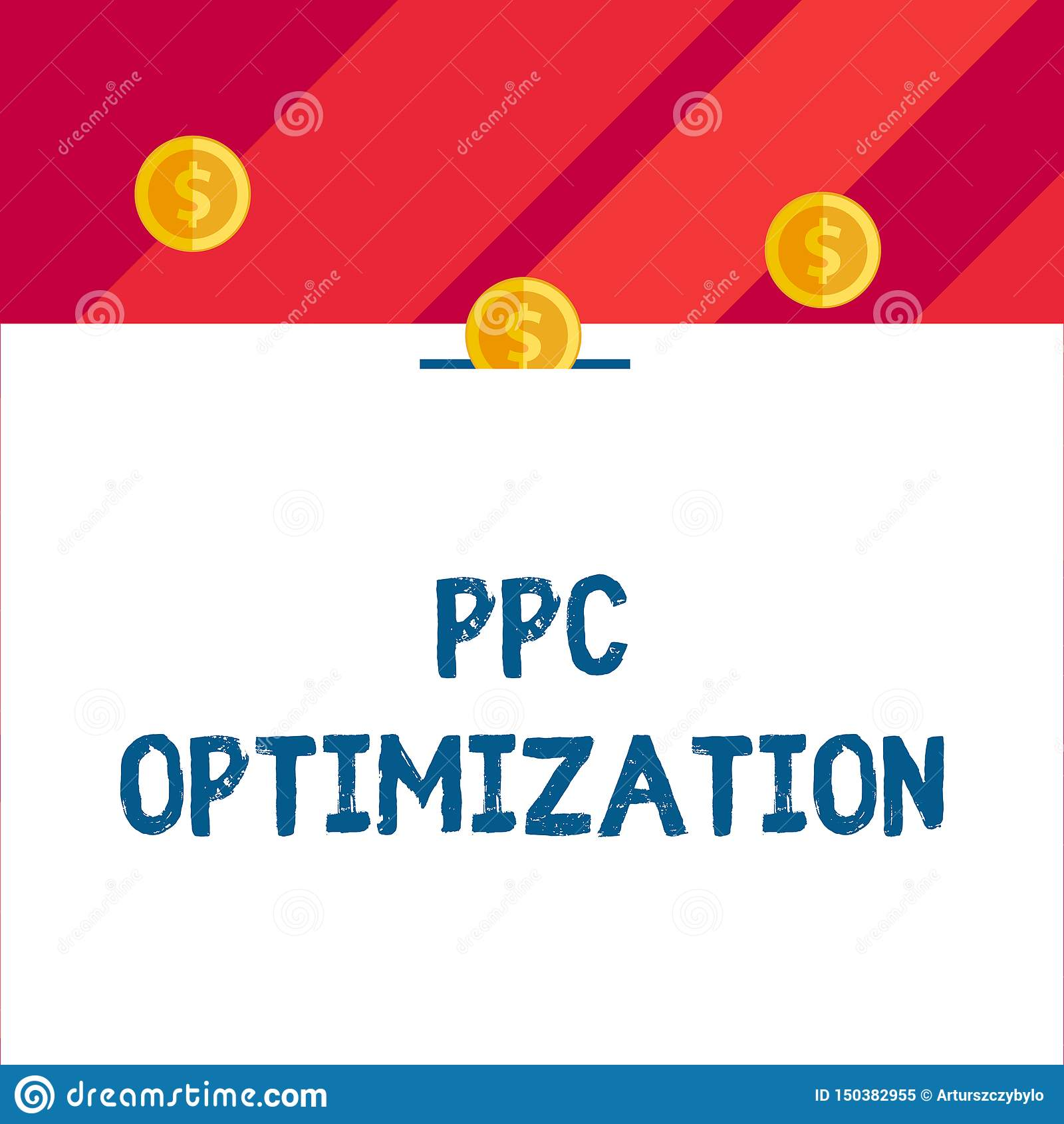 Het schrijven nota die Ppc Optimalisering tonen Bedrijfsfoto demonstratieverhoging van zoekmachineplatform voor loon per klik