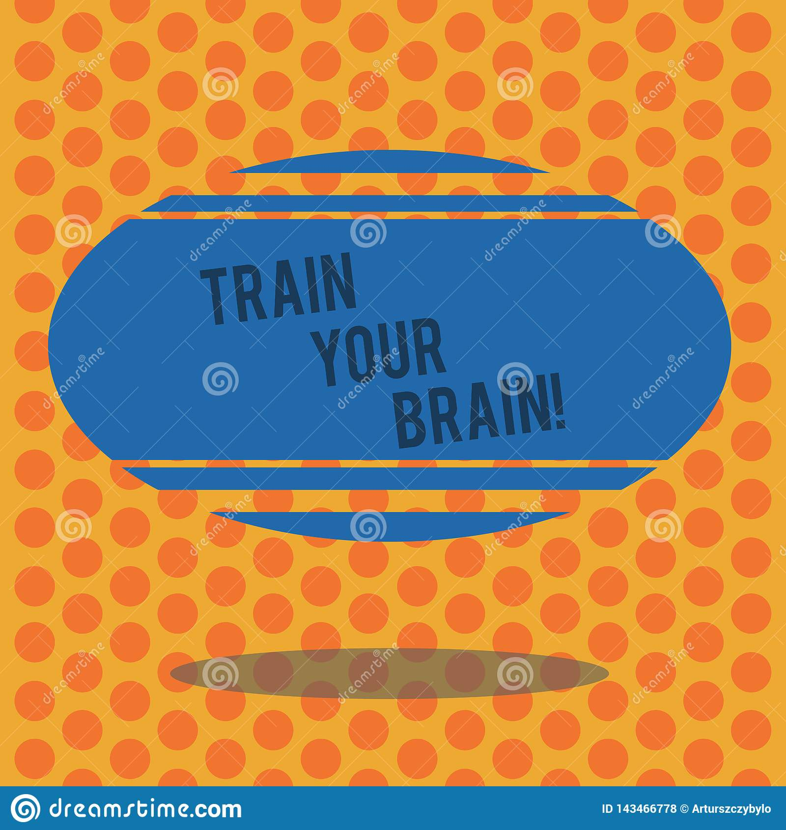 Het schrijven nota die Trein Uw Hersenen tonen De bedrijfsfoto demonstratie leidt zich op krijgt nieuwe kennis verbetert vaardigh
