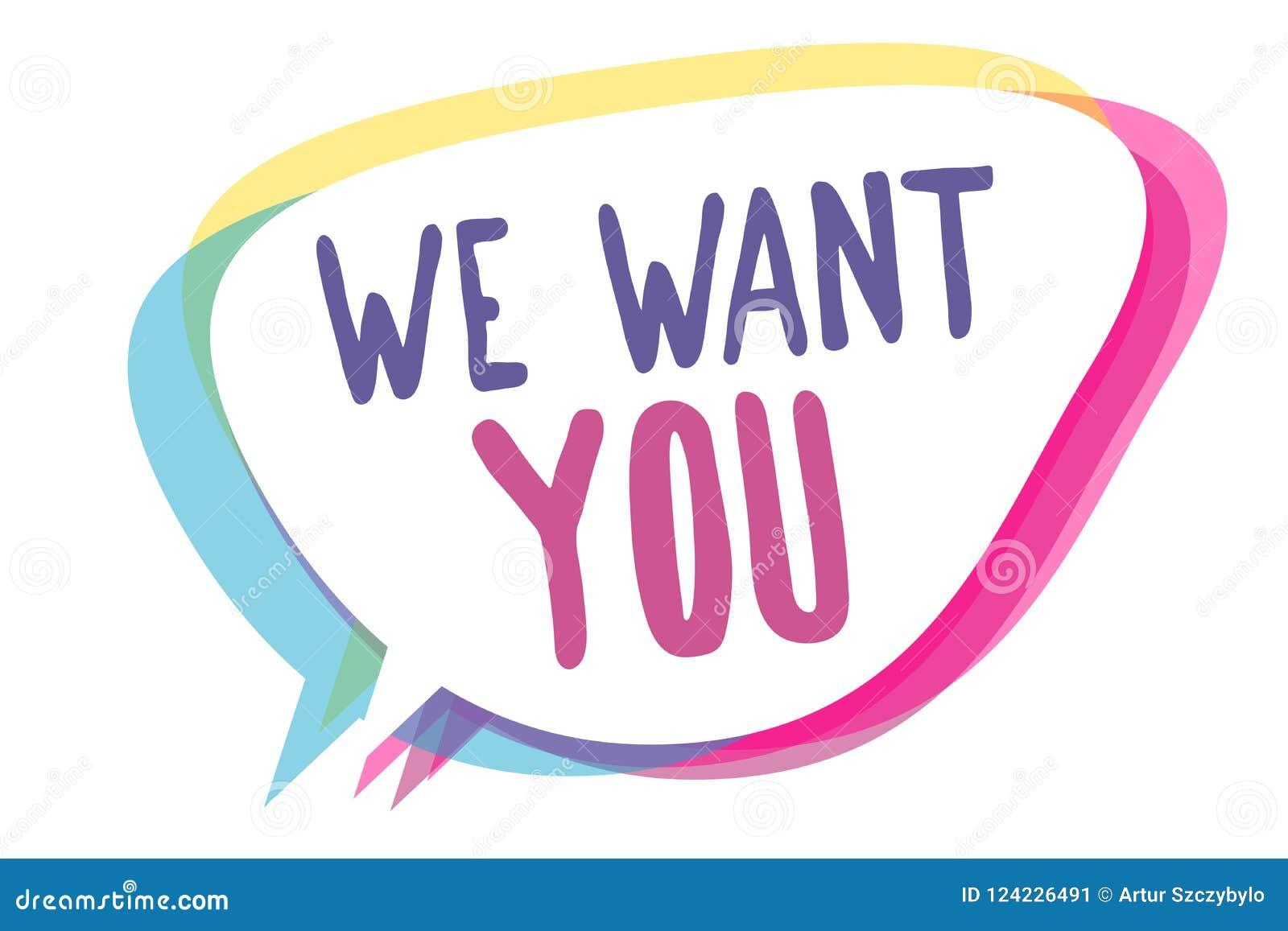 Het schrijven nota die willen wij u tonen Het bedrijfsfoto demonstrerende Bedrijf wil Vacature huren Zoekend de werkgelegenheid S