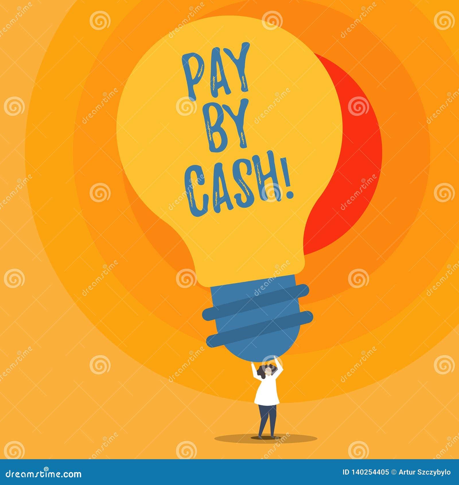 Het schrijven nota het tonen betaalt door Contant geld Bedrijfsfoto demonstrerende Klant die met geldmuntstukken rekeningen betal