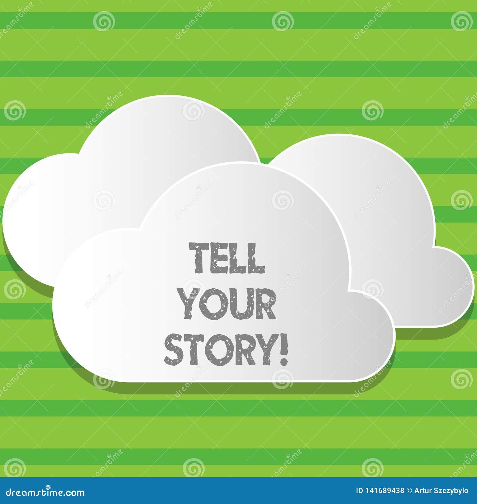 Het schrijven nota het tonen vertelt Uw Verhaal Bedrijfsfoto demonstrerend uitdrukkend uw gevoel Vertellend uw schrijven