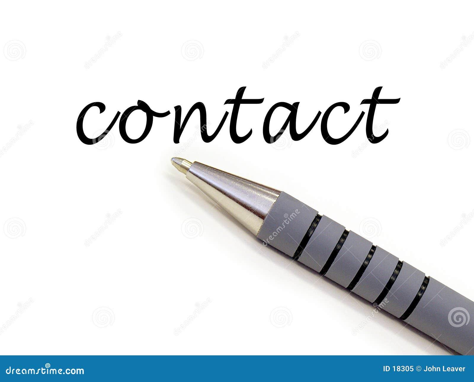 Het schrijven van de pen contact