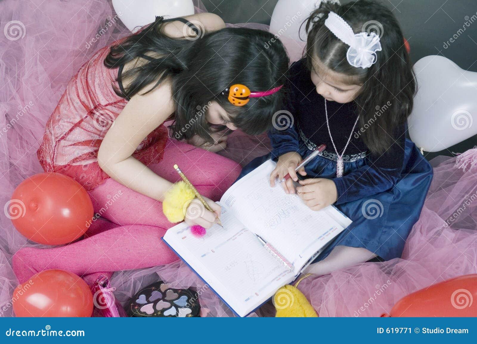 Het schrijven van meisjes
