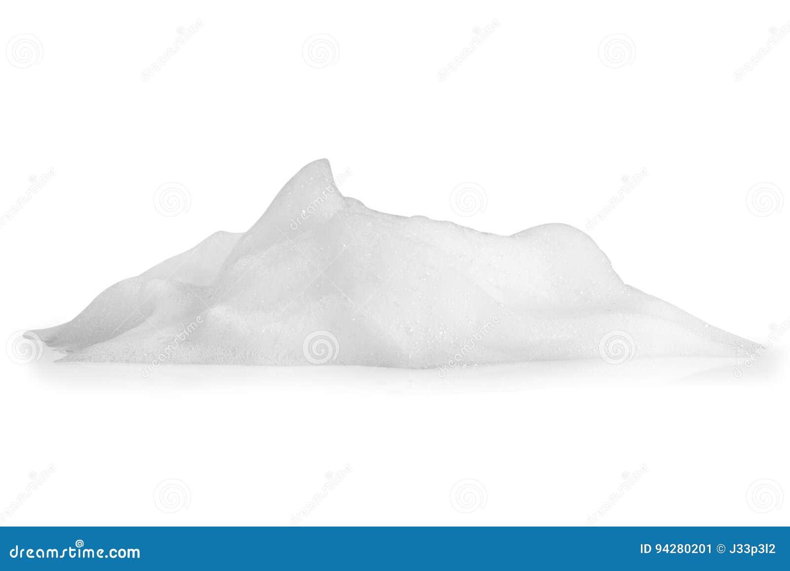 Het schuim borrelt textuur op witte achtergrond wordt geïsoleerd die