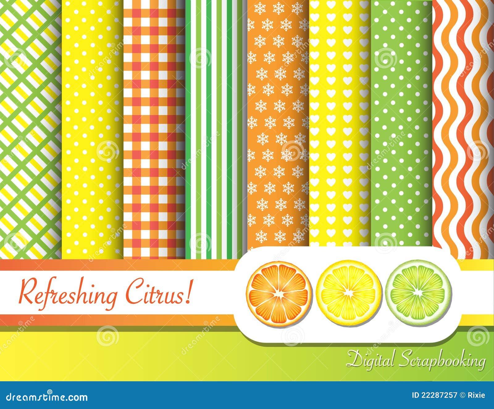 Het scrapbooking van de citrusvrucht