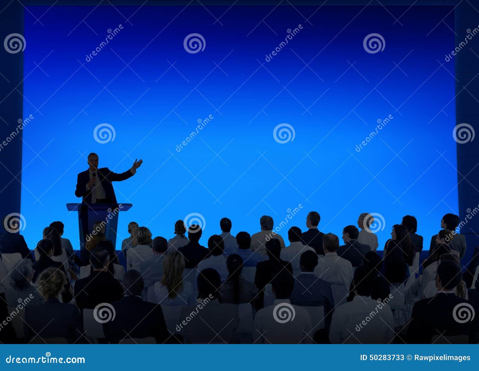 Het Seminarie Team Concept van de bedrijfsconferentievergadering
