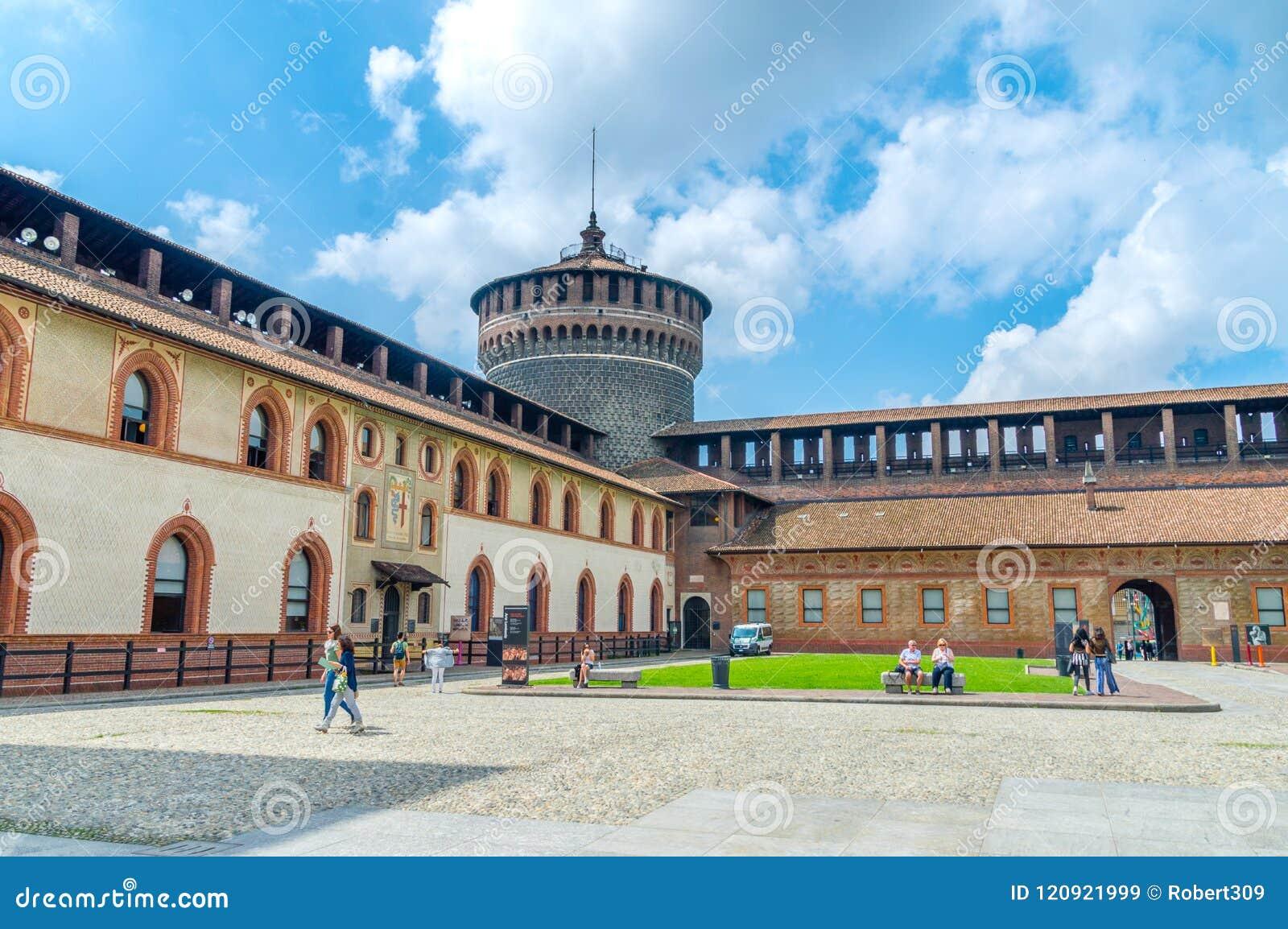 Het Sforza-Kasteel als Castello Sforzesco ook wordt gekend die