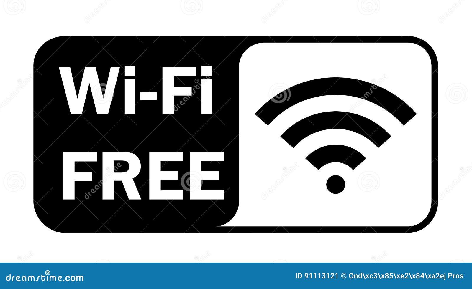 Het signaal vlak pictogram van Wifi draadloos Internet