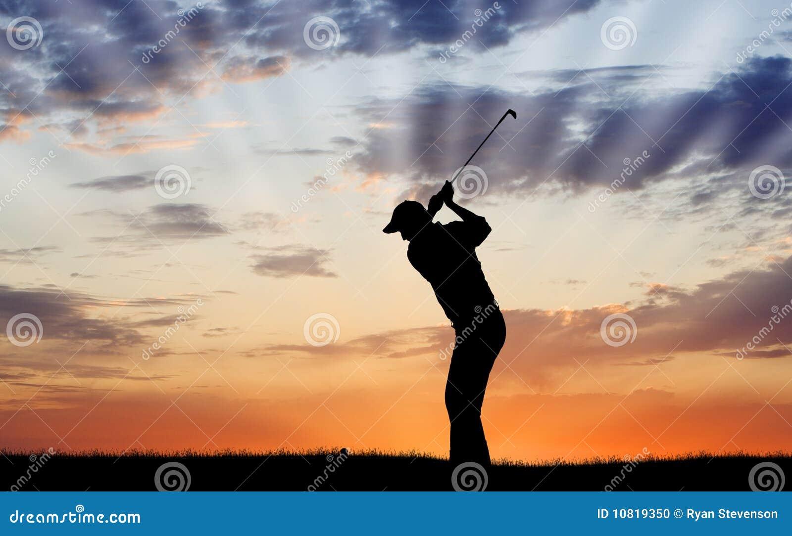 Het Silhouet van de golfspeler