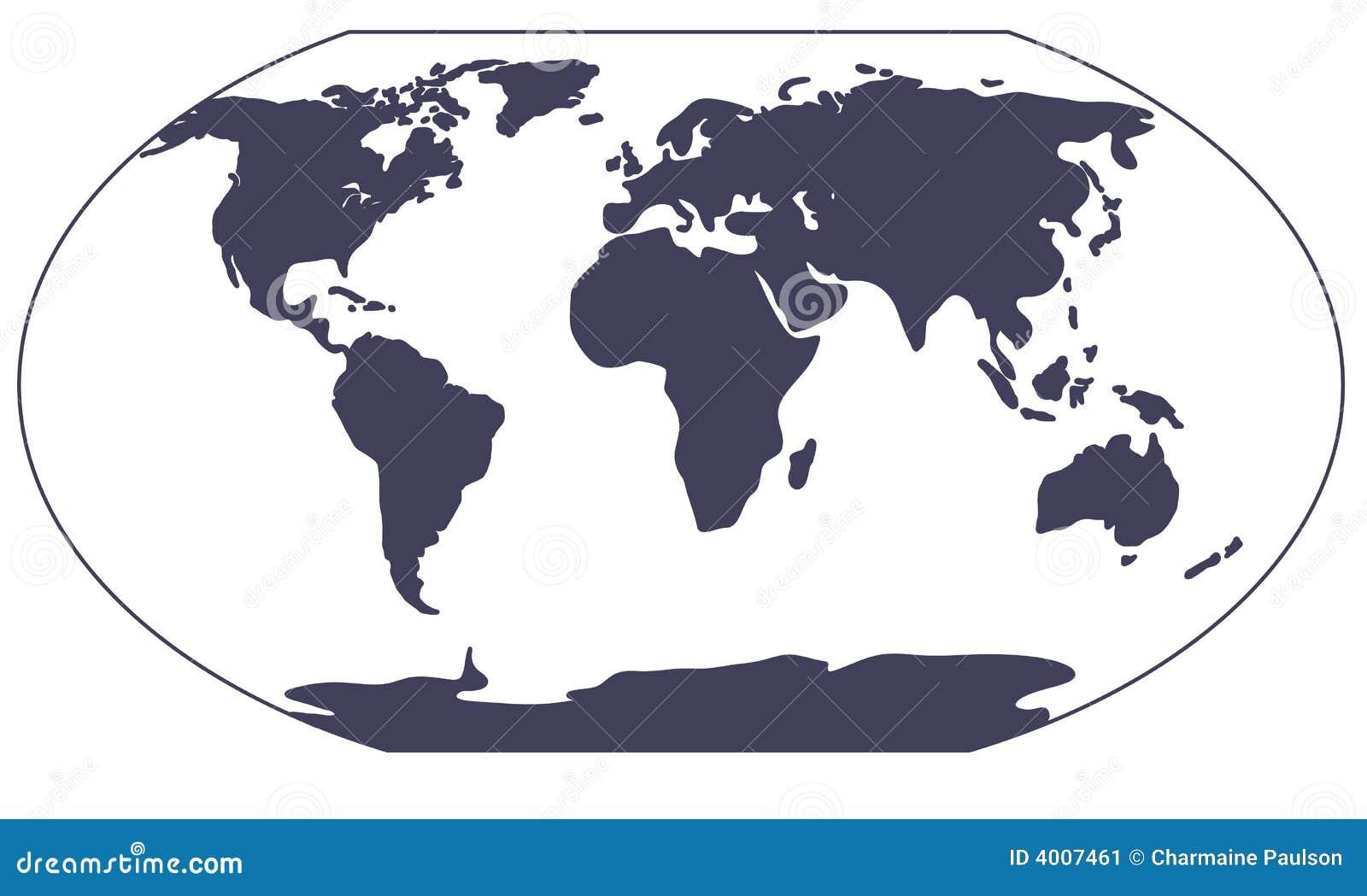 Het silhouet van de kaart van de wereld stock afbeelding afbeelding 4007461 - Basket thuis van de wereld ...