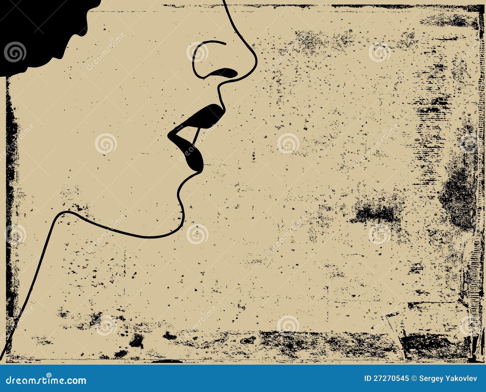 Het silhouet van de vrouw