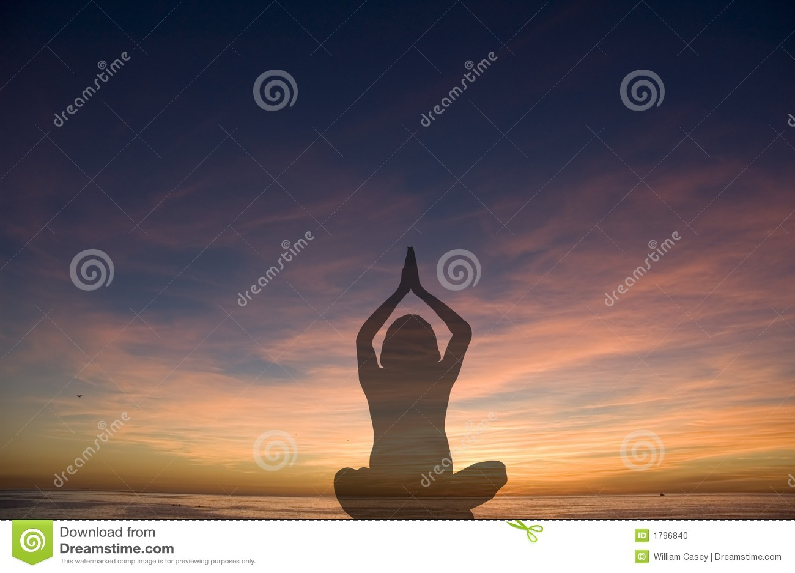 Het silhouet van de yoga