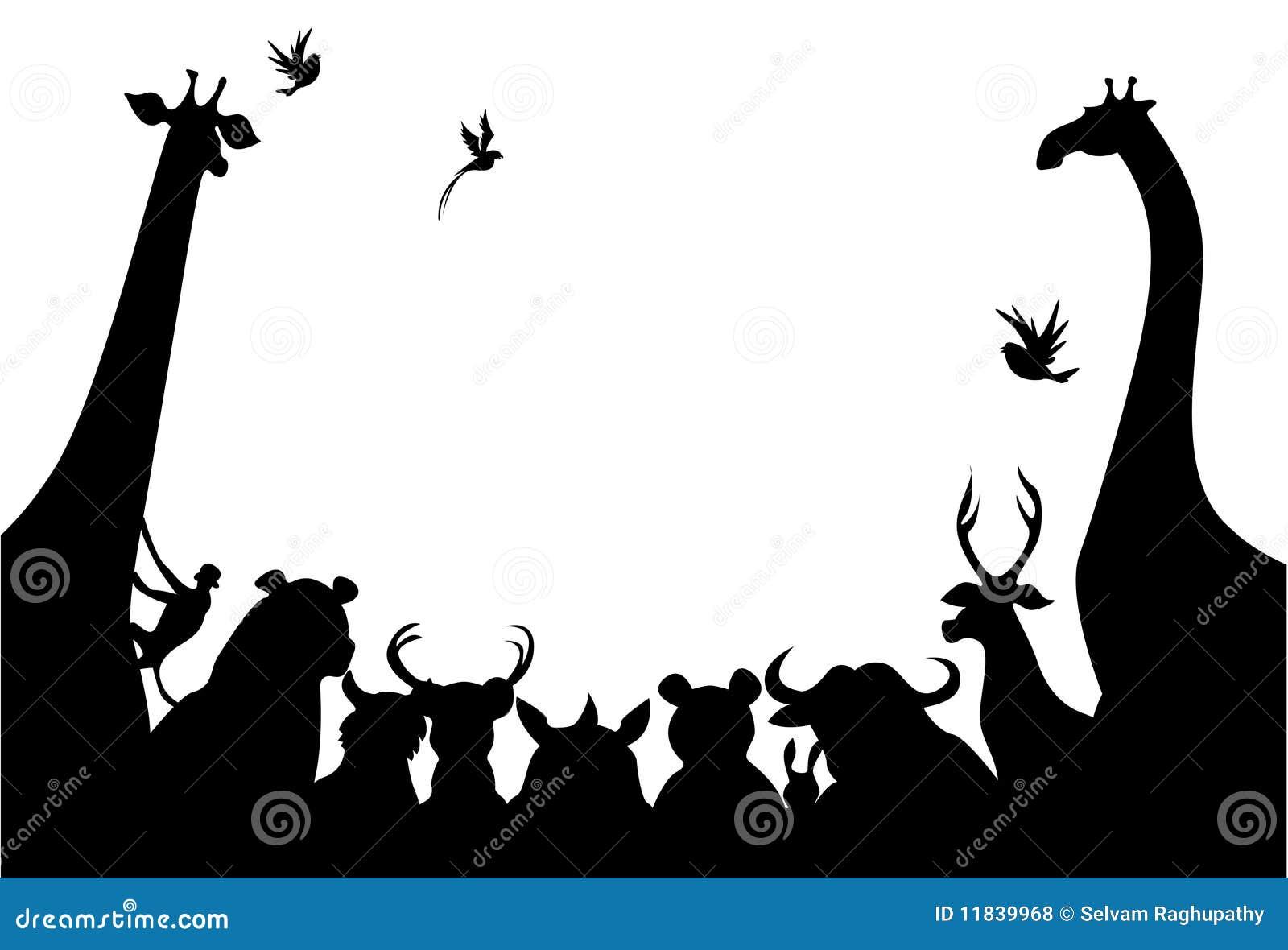 Het silhouet van dieren