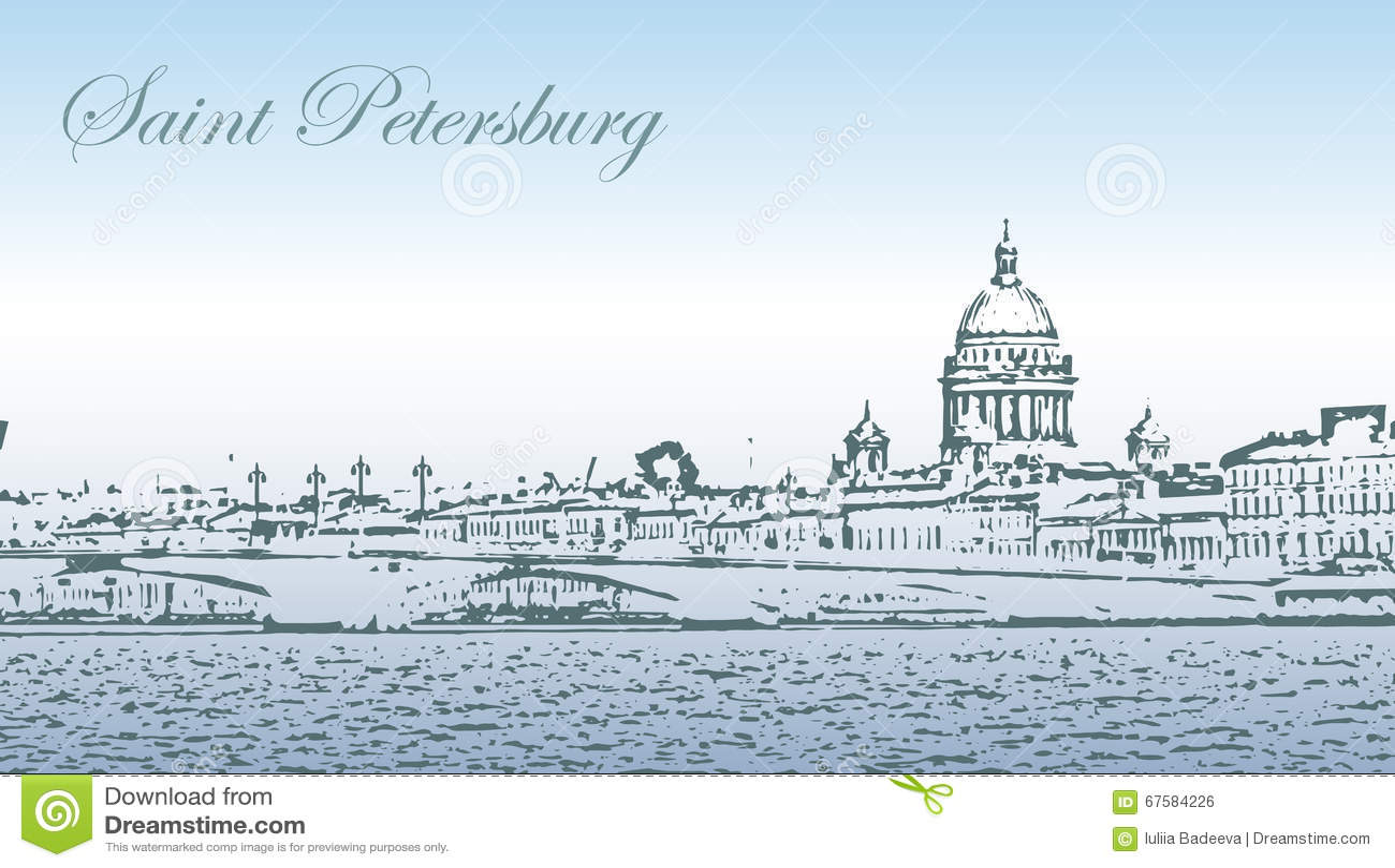 Het silhouet van heilige Petersburg