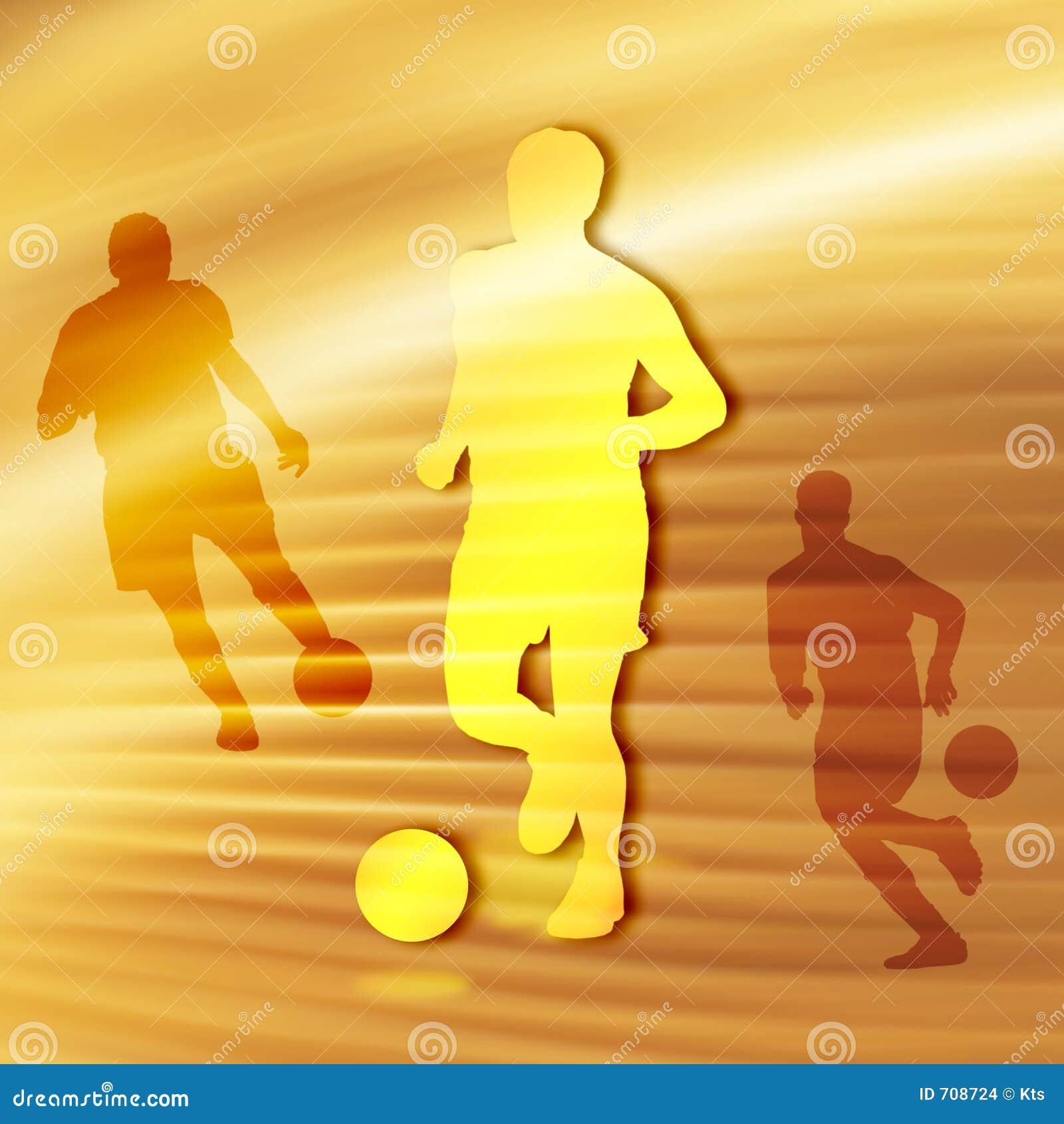 Het Silhouet van het voetbal