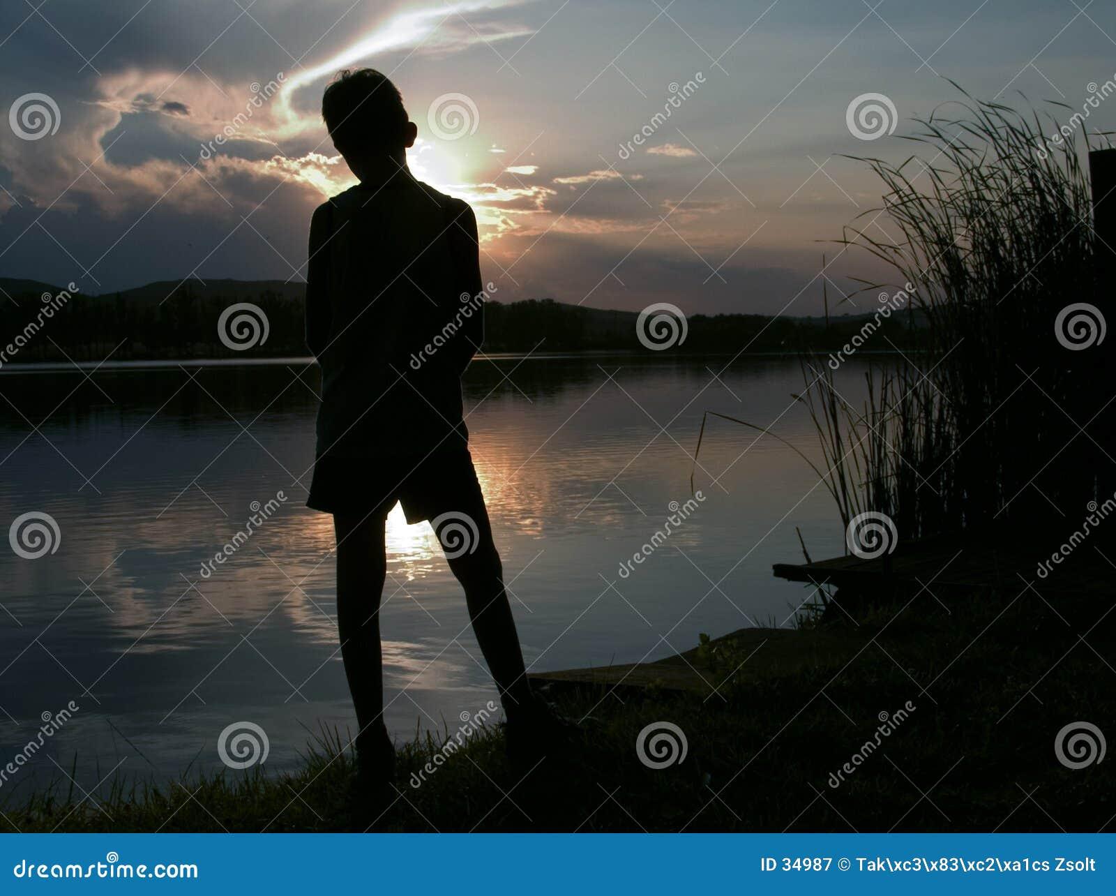 Het silhouet van Longing