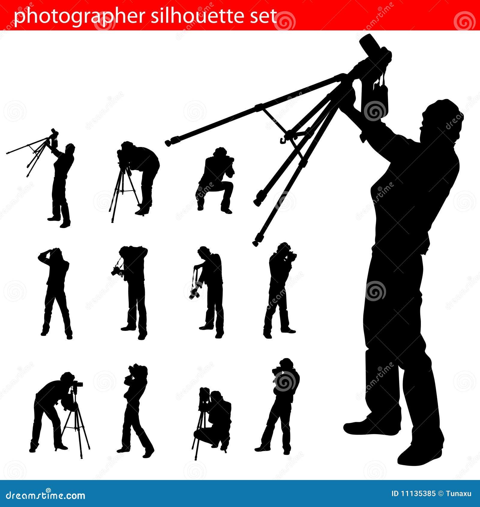 Het silhouetreeks van de fotograaf