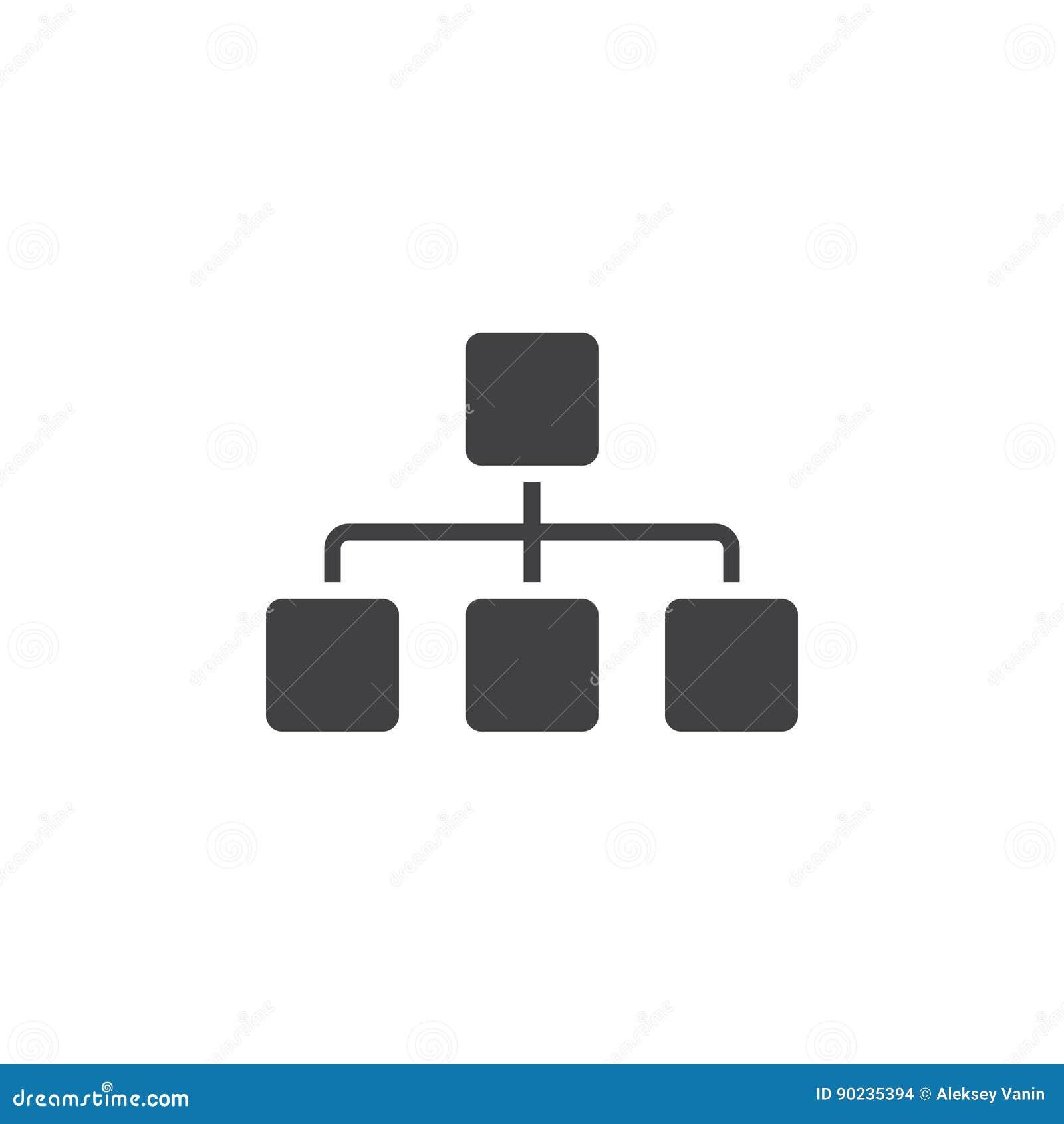 Het Sitemappictogram, illustratie van het grafiek de stevige embleem, pictogram is