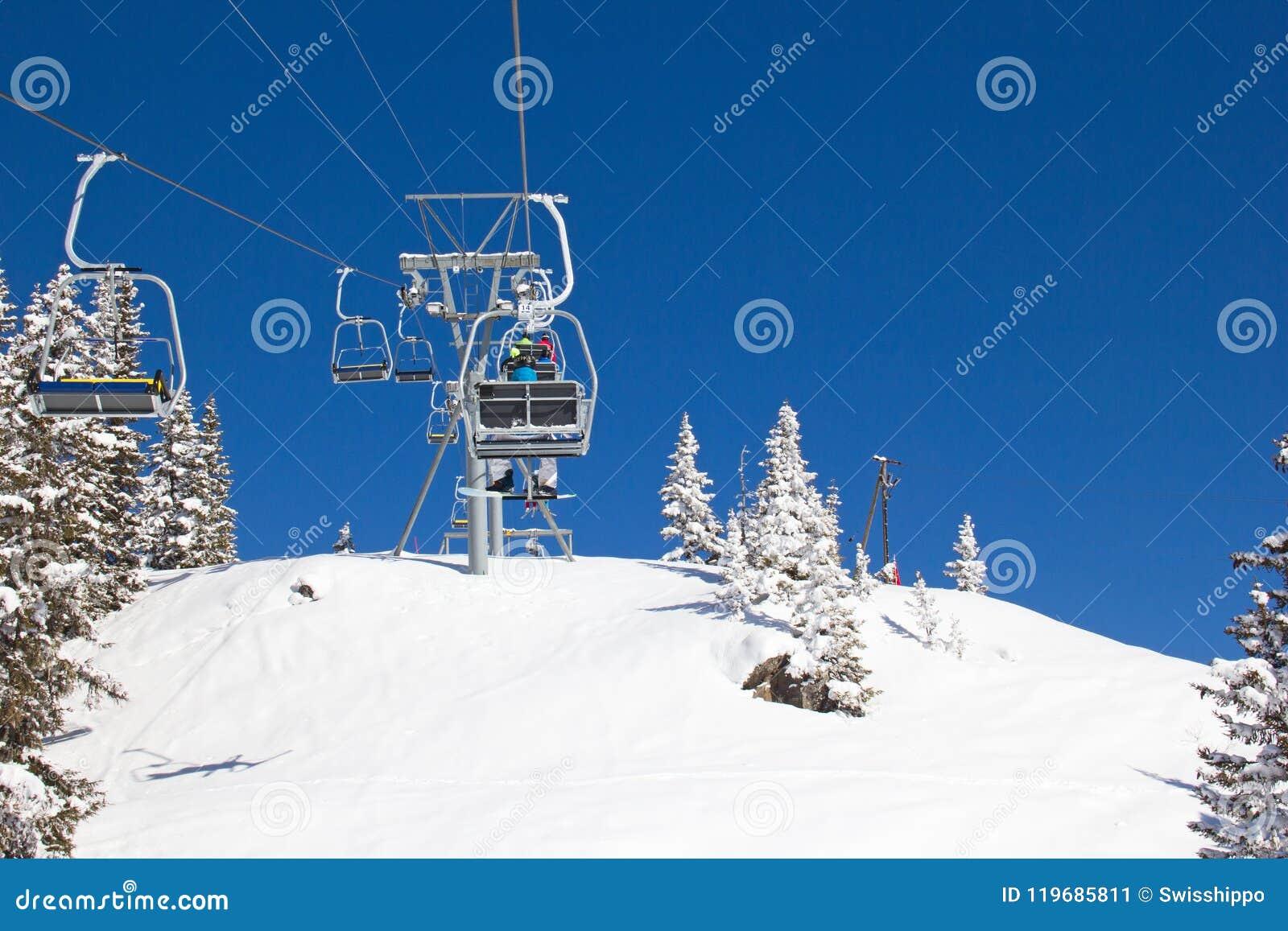 Het ski?en helling