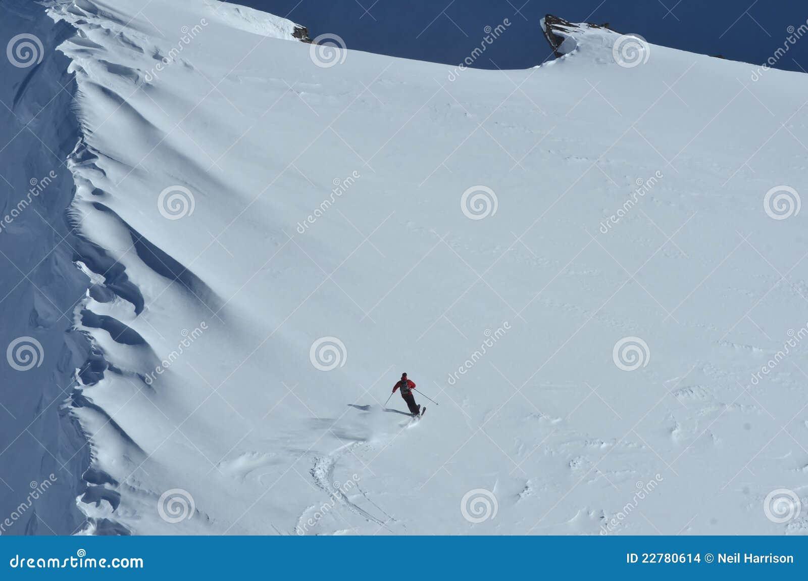 Het Ski?en van het poeder