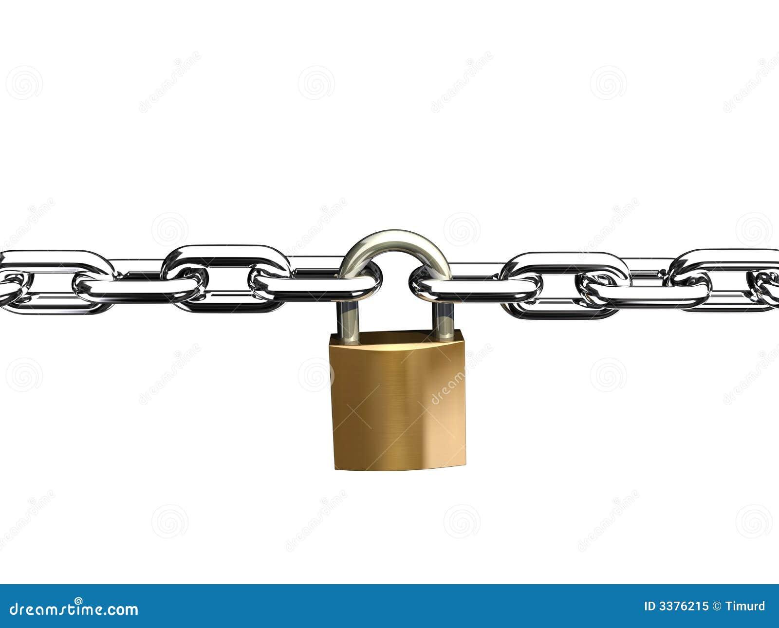 Het slot van de ketting stock illustratie afbeelding bestaande uit link 3376215 - How to open chain lock ...