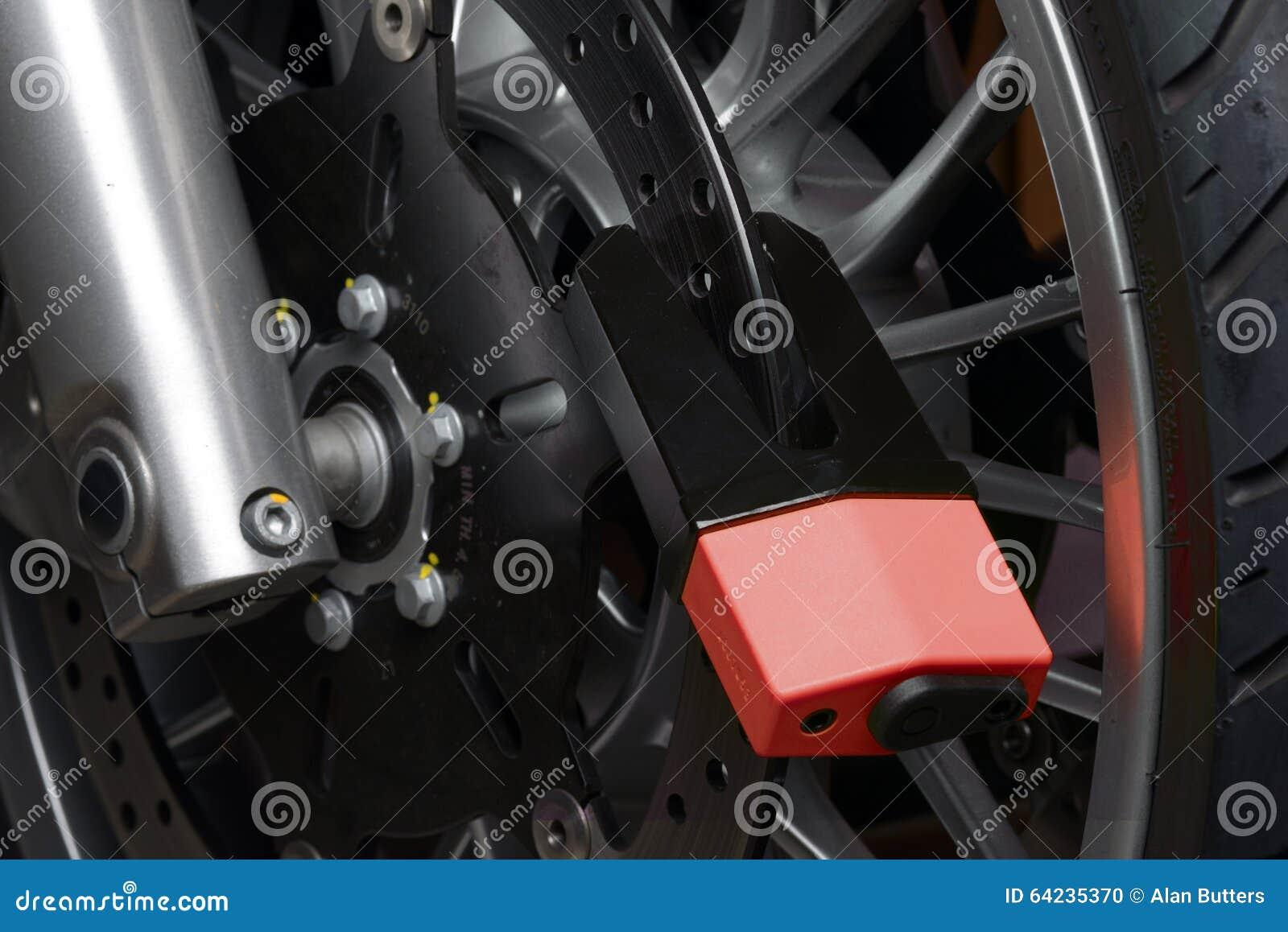 Het slot van de motorfietsschijf