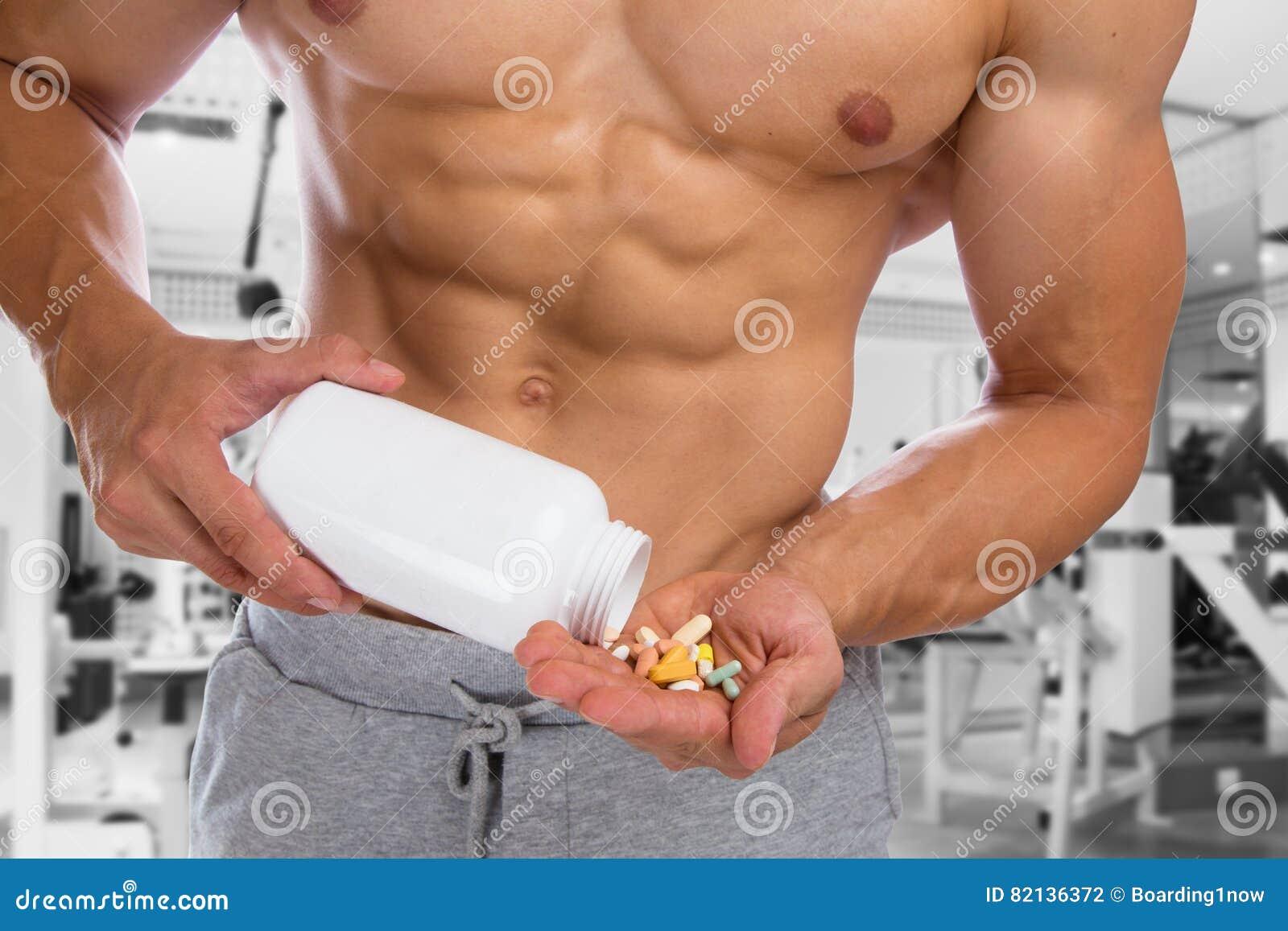 Het smeren van anabole bodybuilding de spierengeschiktheid g van de pillenbodybuilder