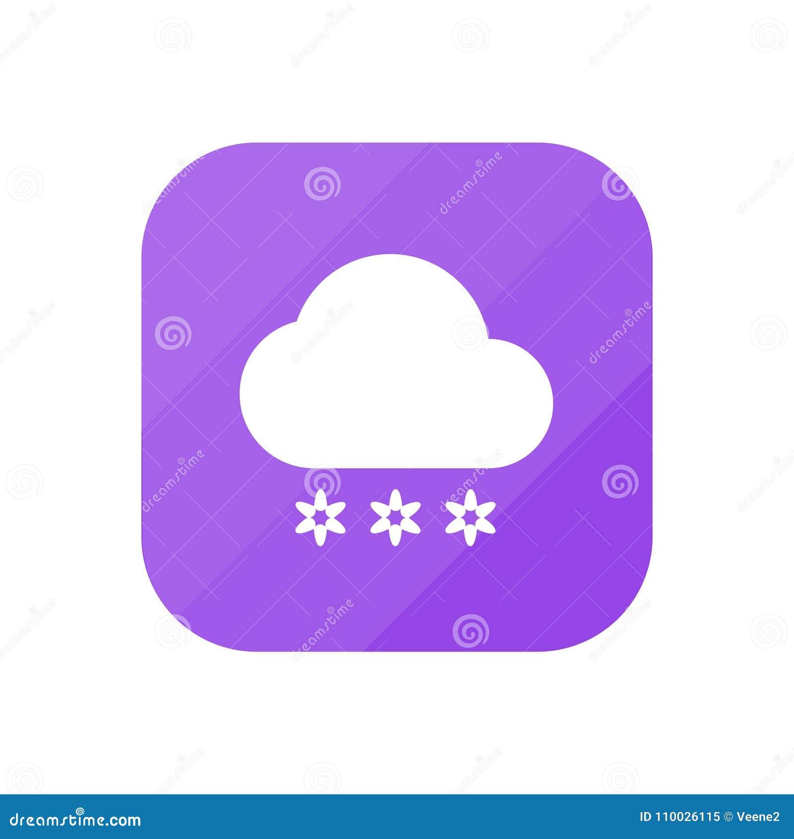 Het sneeuwen - App Pictogram