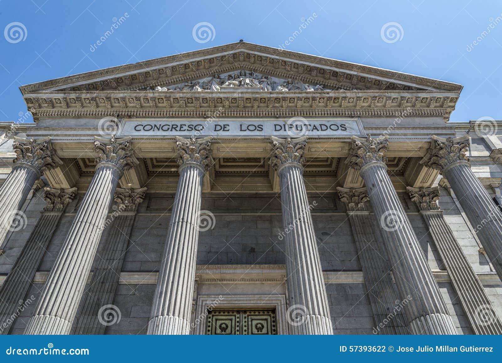 Het Spaanse parlement, Madrid